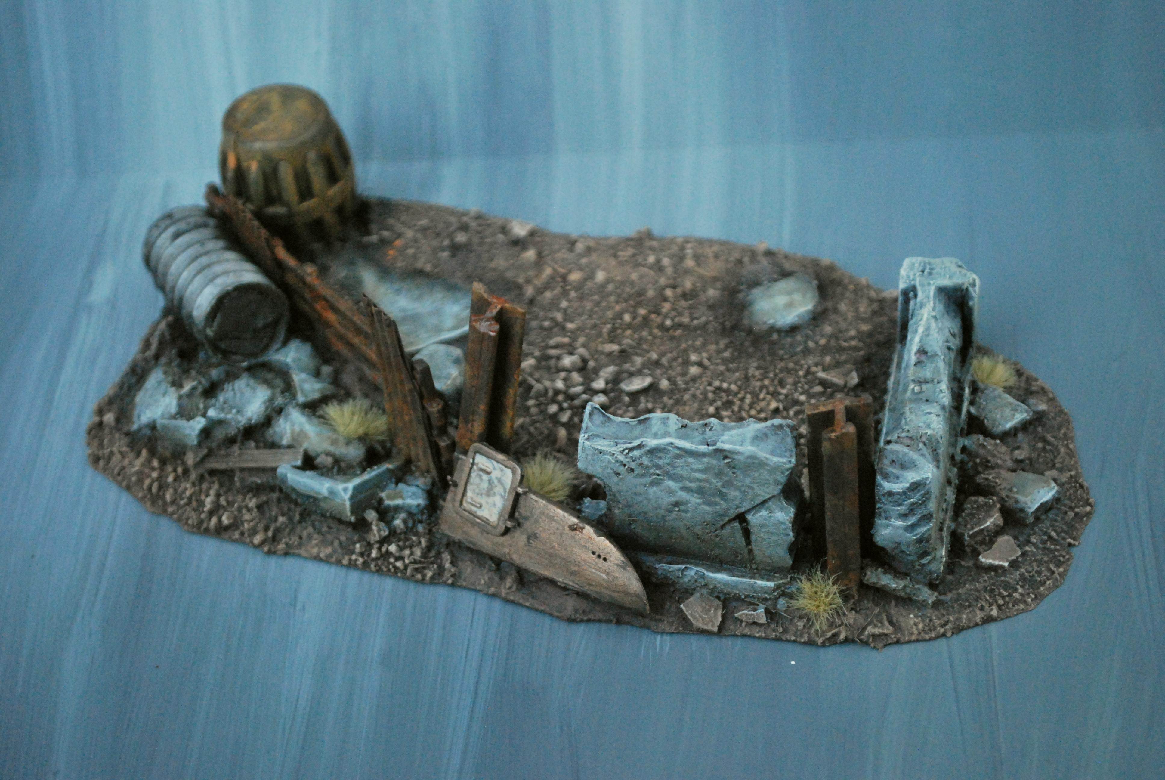 Bits, Commission, Custom, Diorama, Empire, Fallout, Foam, Imperium, Post-apoc, Rubble, Ruins, Scratch Build, Space Marines, Terrain, Terrainwalk3r, Terrainwalker, This Is Not A Test, Tnt, Warhammer 40,000