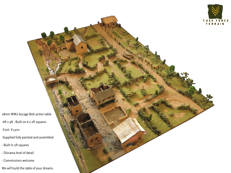 28mm, Buildings, Game Table, Gametable, Terrain, Wargames, World War 2