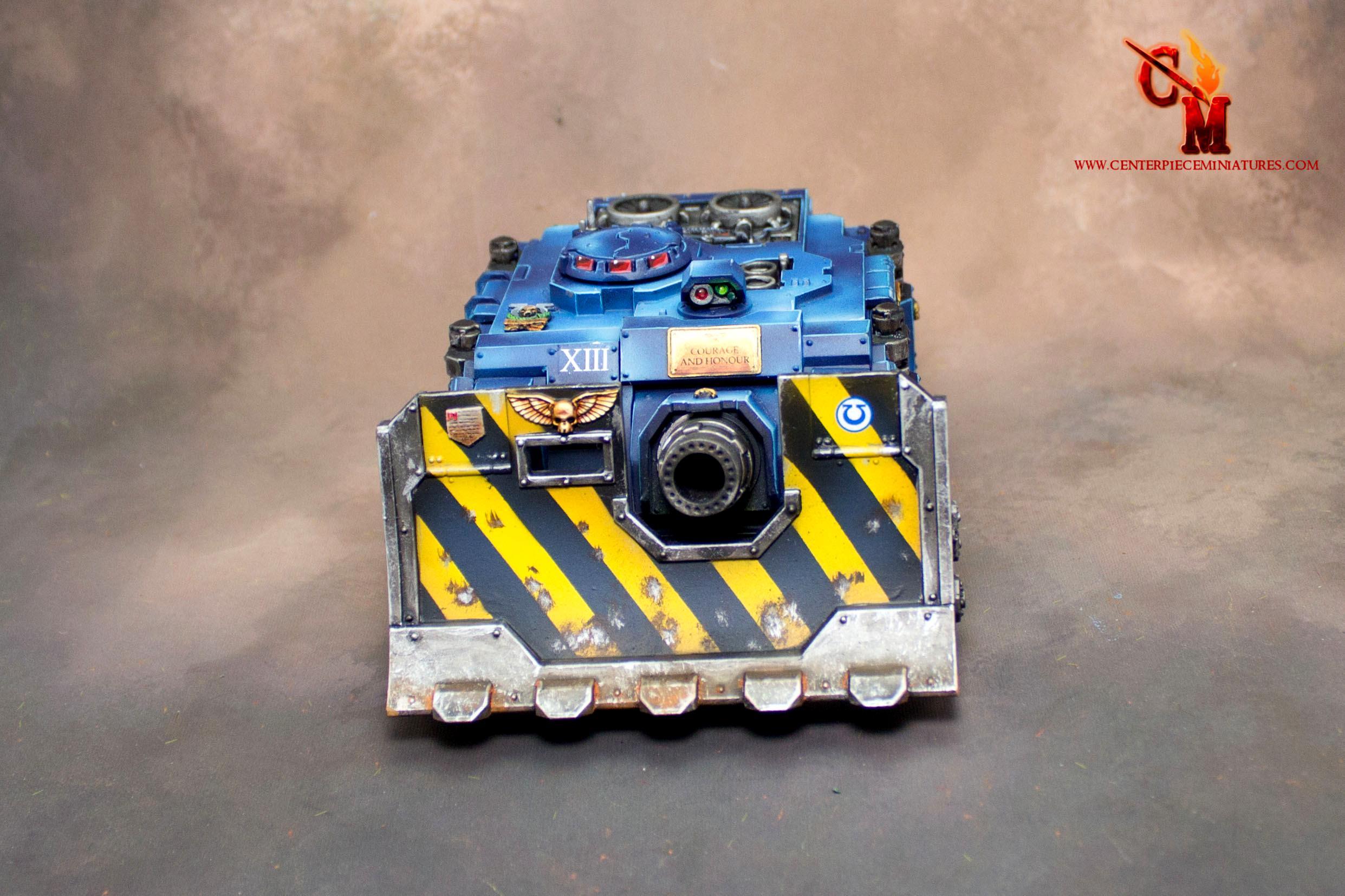 Pro-painted, Space Marines, Tank, Ultramarines, Vindicator