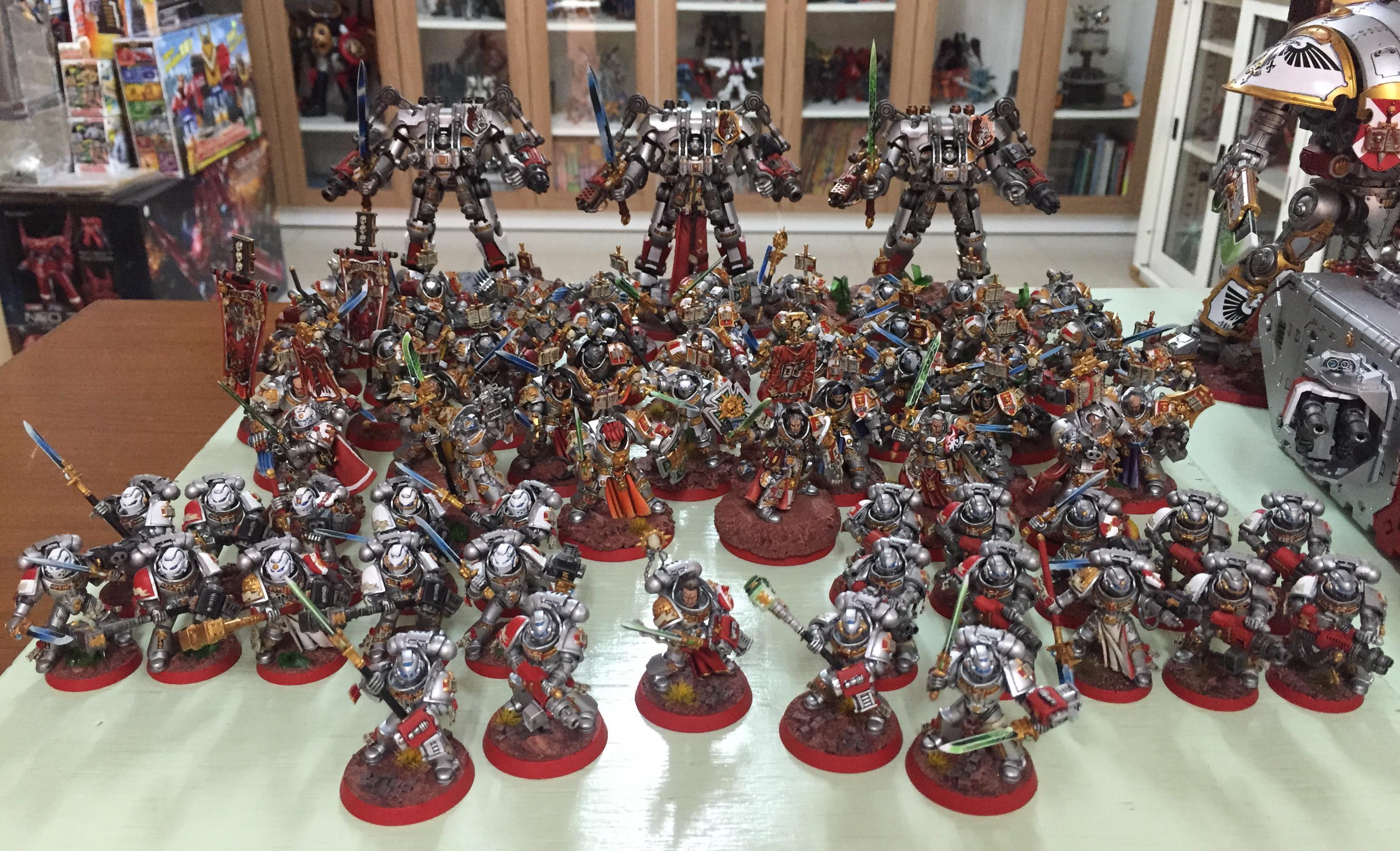 Army, Brother, Captain, Castellan, Crowe, Draigo, Dreadknight, Grey Knights, Justicar, Librarian, Lord Kaldor Draigo, Paladin, Purgation, Purifier, Stern, Strike Squad