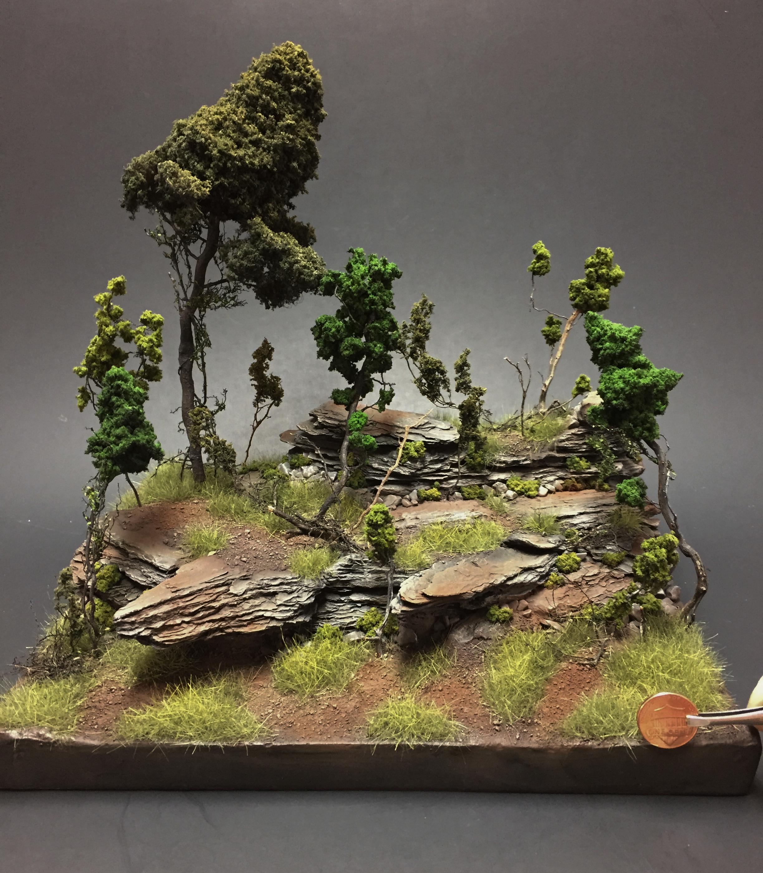 Diorama, Fauna, Landscape, Terrian, Trees, Vine