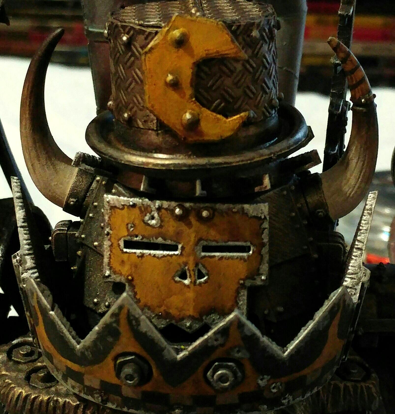 Conversion, Gargant, Giant, Hat, Metal, Moon, Orks, Scrap, Walkers, Yellow