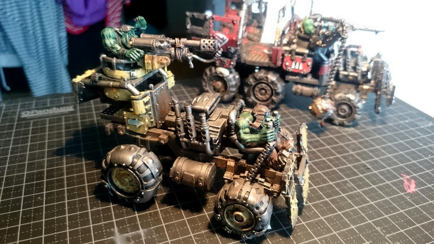 Buggy, Conversion, Orks, Painting, Skorcha, Warbuggy, Warhammer 40,000, Weathered