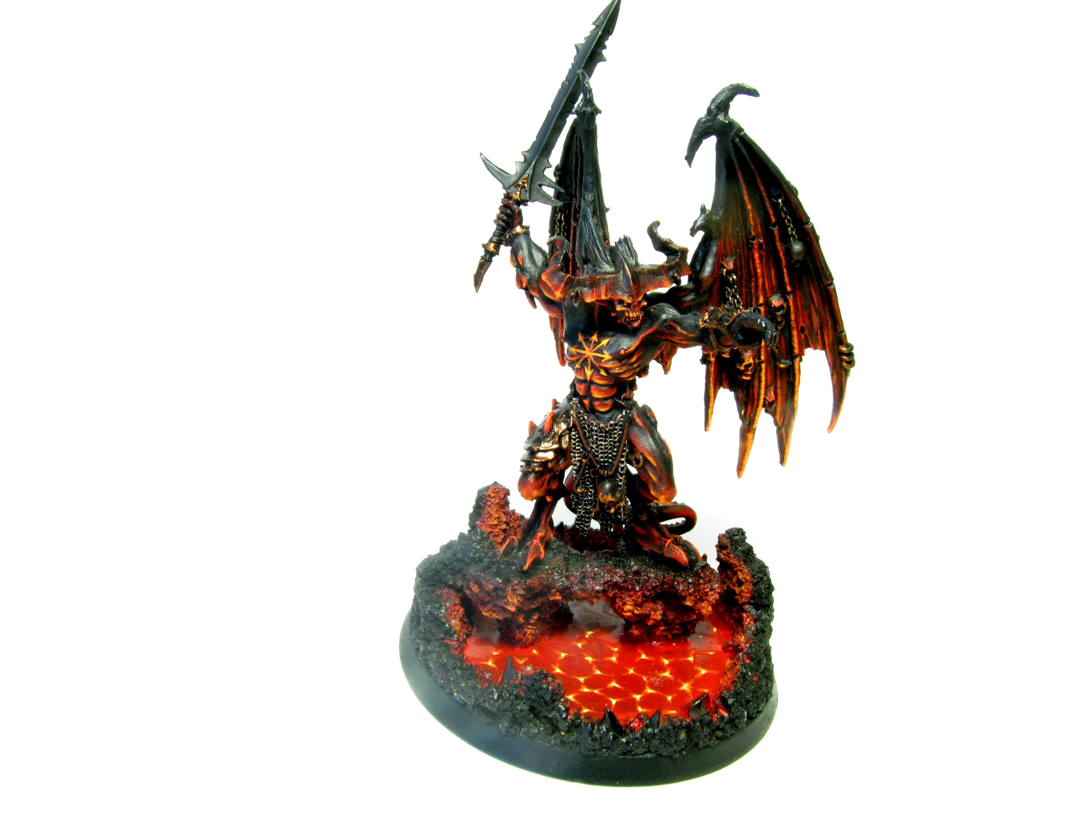 Be'lakor, Belakor, Chaos, Daemon Prince, Daemons, Fire Base, Lava