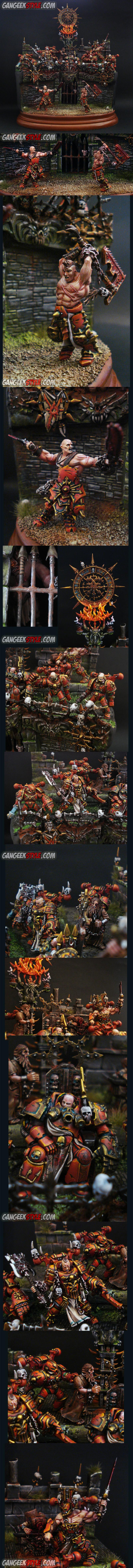 Arena, Blood, Chaos, Chaos Space Marines, Diorama, Khorne, Object Source Lighting, Space Marines
