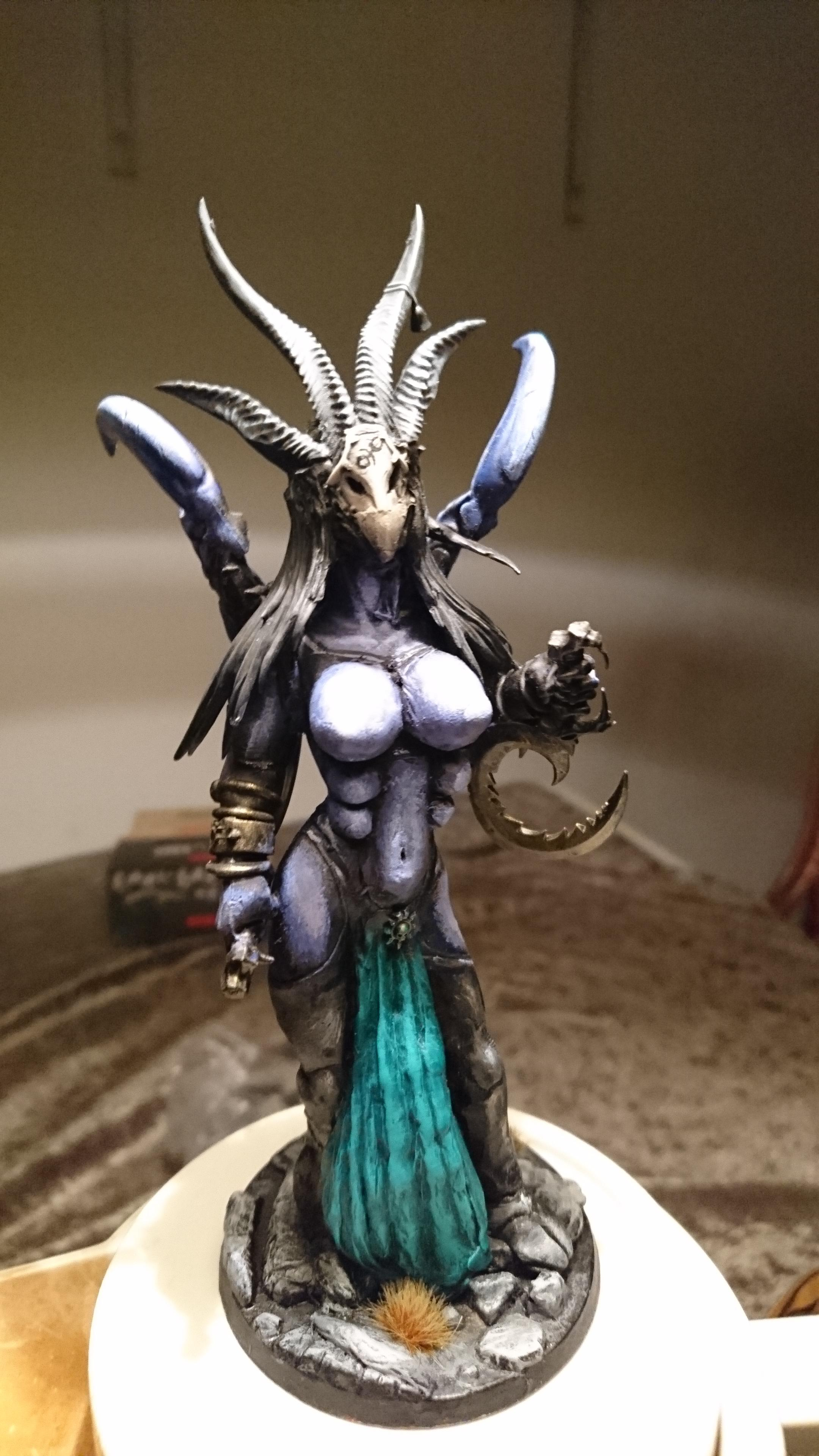 Breasts, Chaos, Conversion, Daemons, Female, Greater, Hair, Horns, Keeper, Loincloth, Long, Lord, Secrets, Slaanesh, Tarnish, Vermin