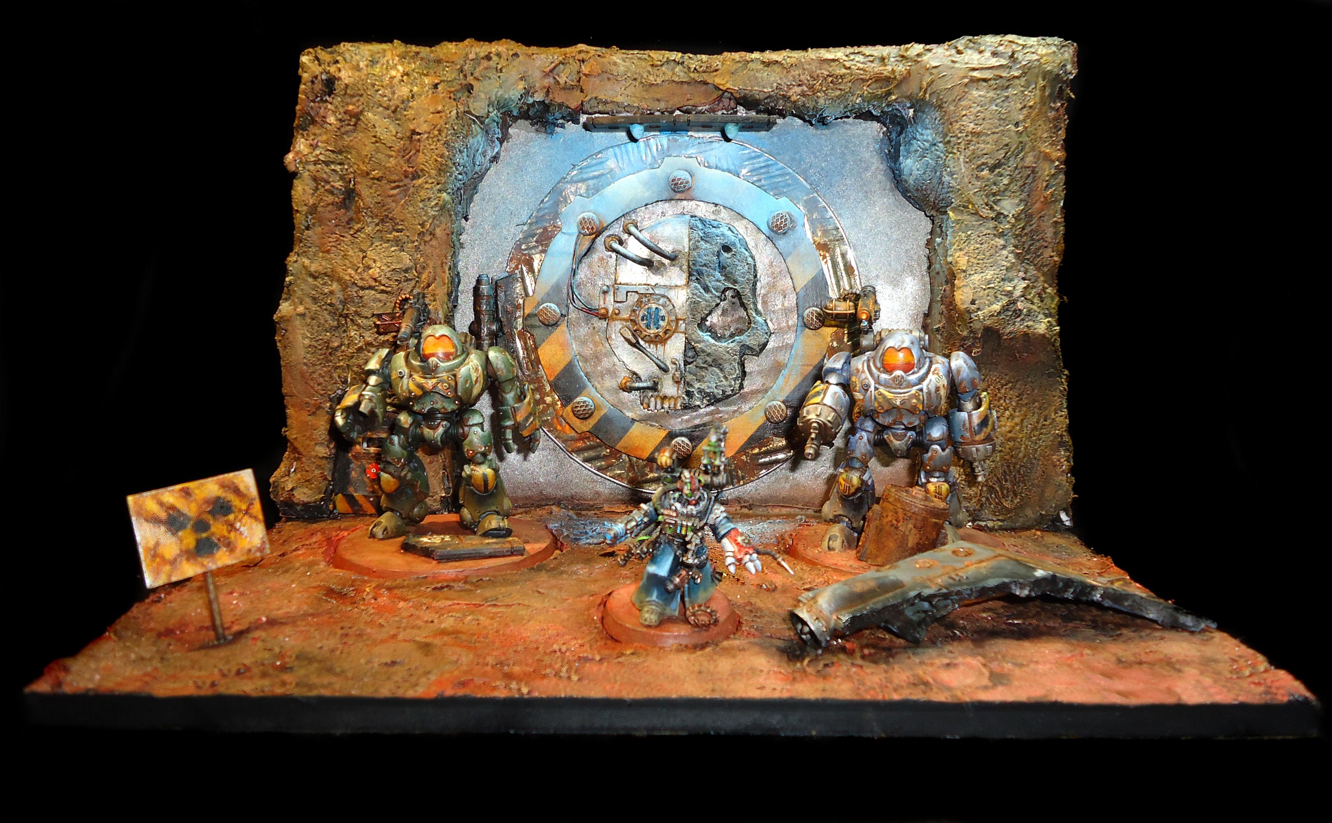 Adeptus Mechanicus, Atomic, Diorama, Imperial, Kastelan Robot, Nuke, Robot, Self Made, Warhammer 40,000, Warhammer Fantasy