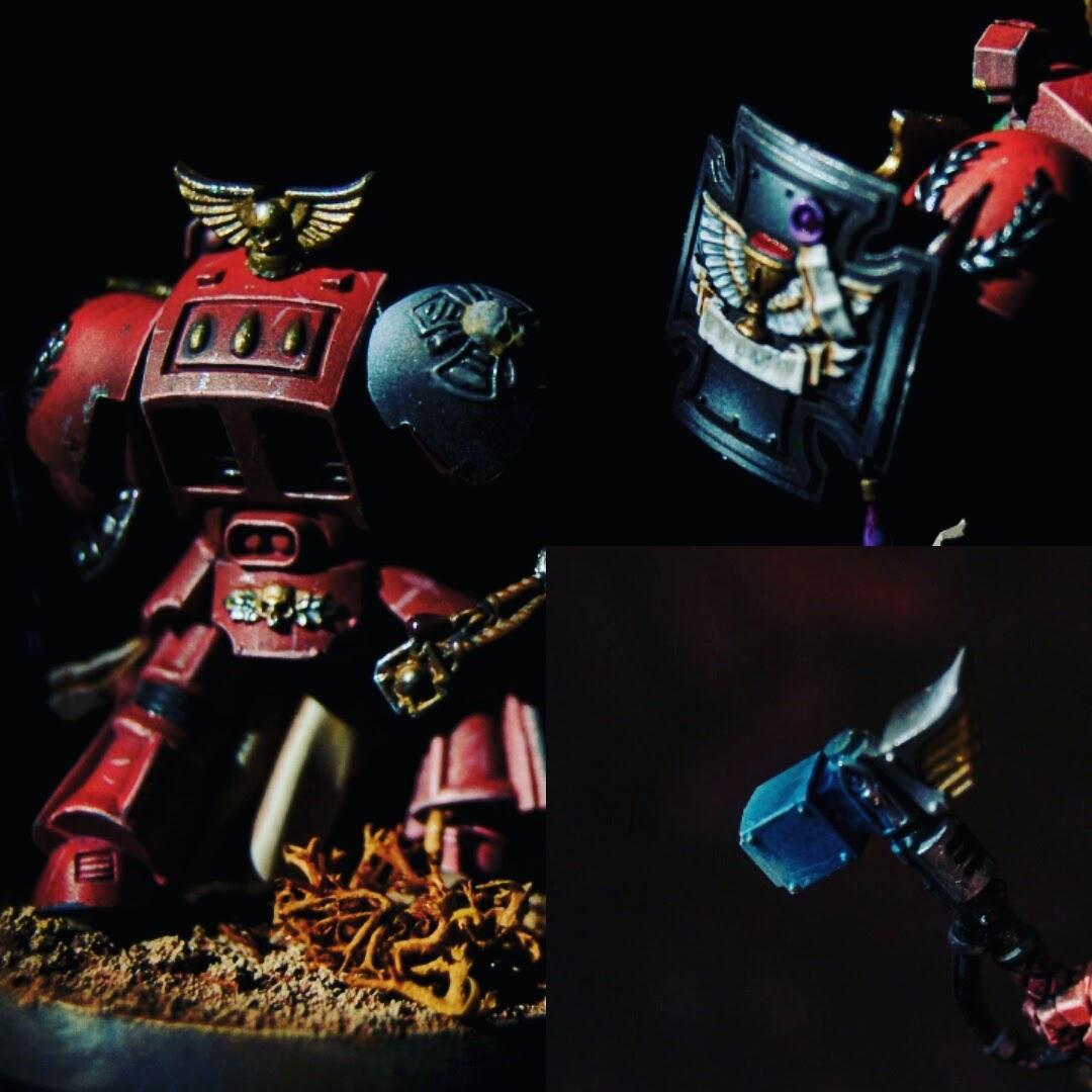 Airbrush, Angel, Blood, Blood Angels, Citadel, Propainted, Terminator Armor, Warhammer 40,000, Warhammer Fantasy