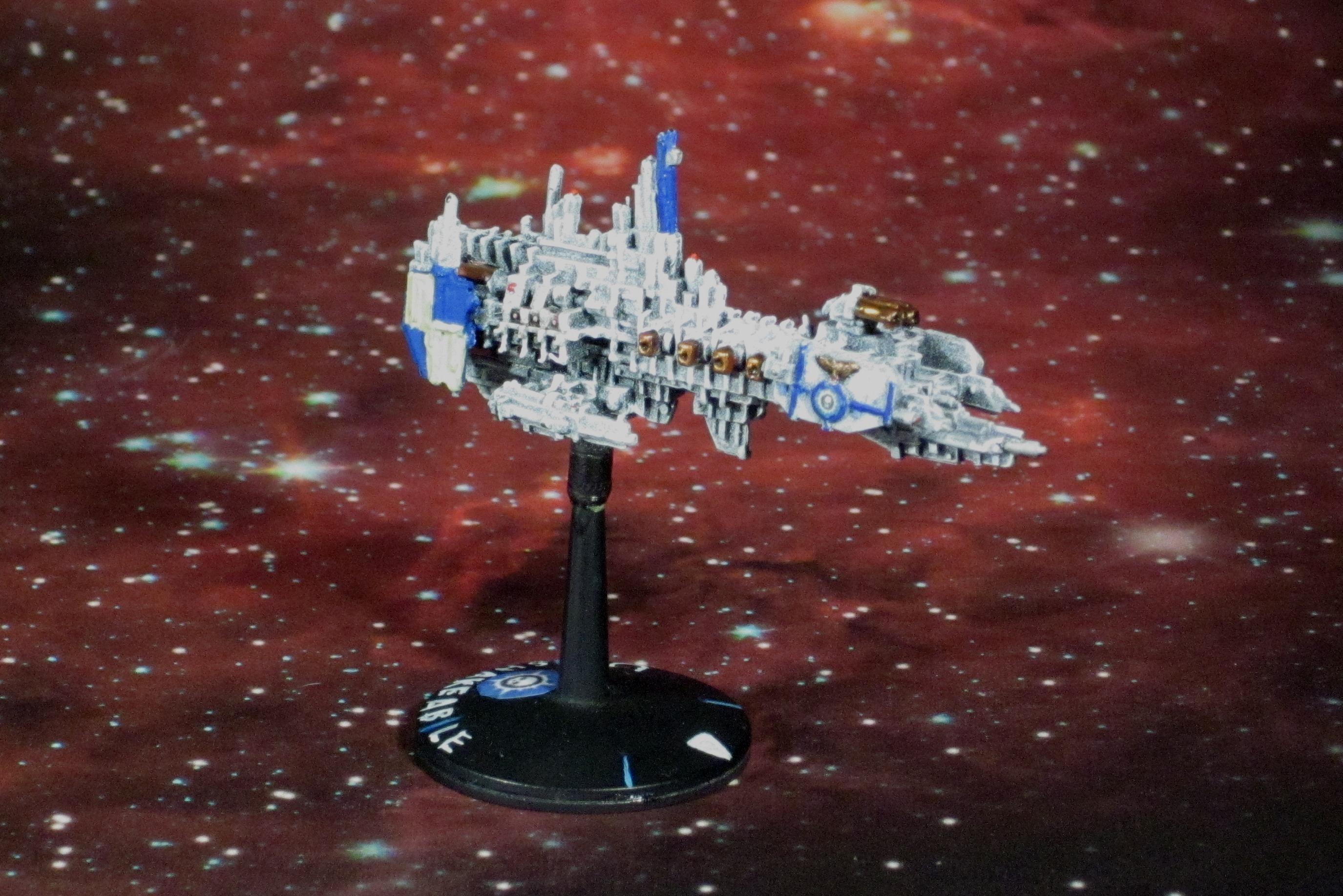 Battlefleet Gothic, Imperial, Novamarines, Space Marines, Strike Cruiser