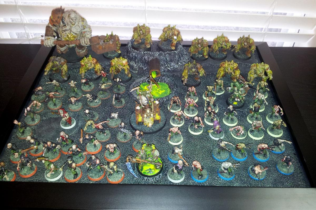 Chaos Tournament Army, Guo, Kharn, Nurgle, Obliterators, Palanquin, Plague Zombies, Typhus