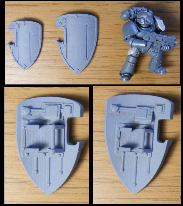 3d Printed, 3d Printing, Boarding Shield, Space Marines - boarding