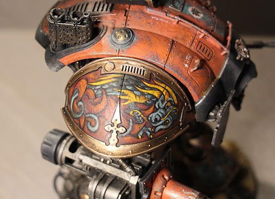 Conversion, Dark, Freehand, Imperial Knight, Mechanicum, Mechanicus, Orange
