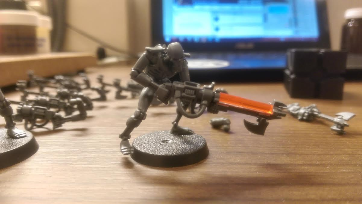 Army, Necrons, Neon, Red, Rod, Warhammer 40,000, Warriors