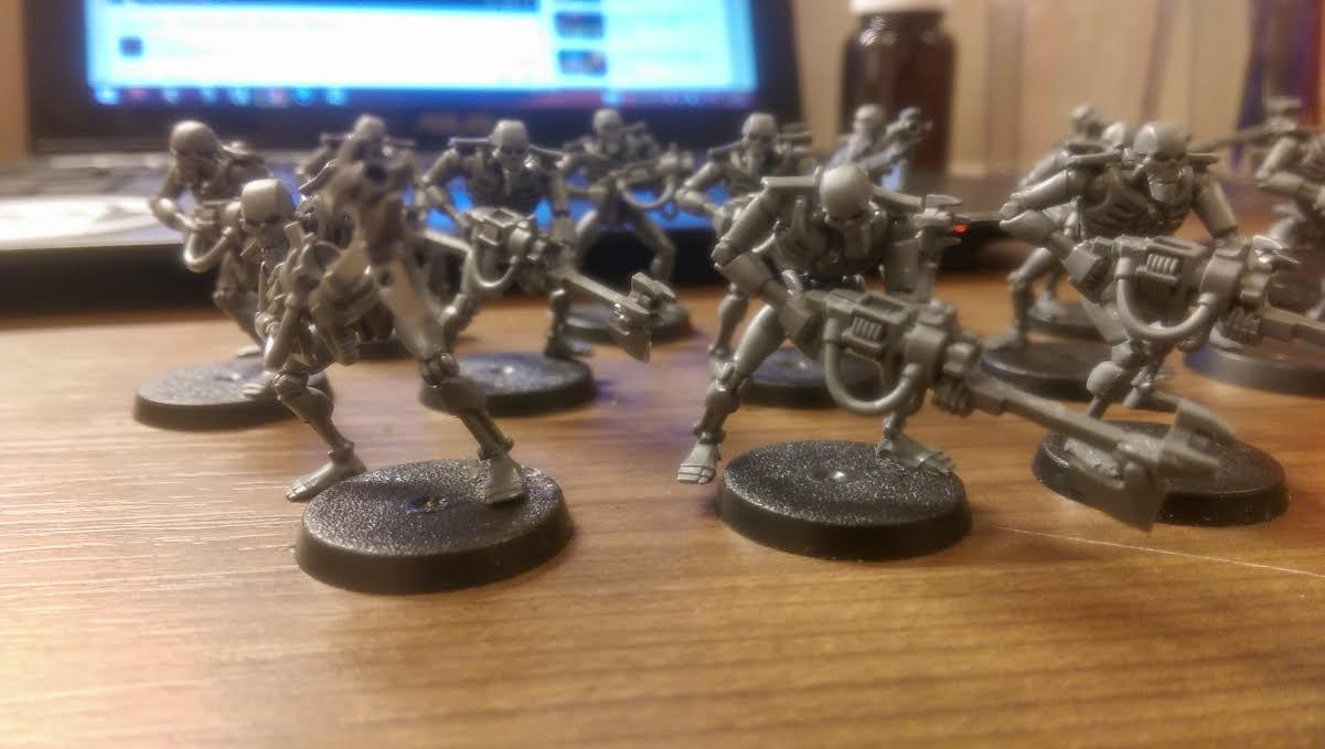 Necrons, Squad, Warhammer 40,000, Warriors, Work In Progress