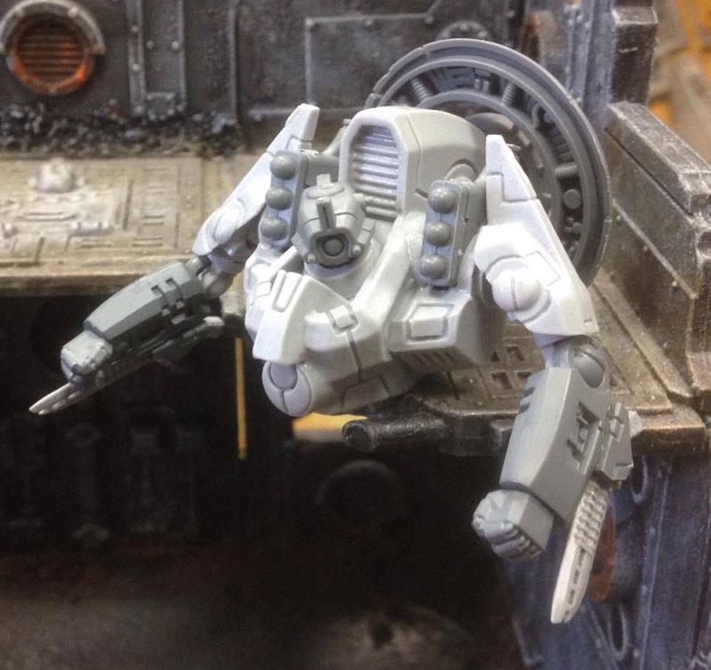 Battlesuit, Commander, Conversion, Crisis Battlesuit, Fusion Blades, Missile Pods., Tau, Tau Commander, Tau Empire, Xv9