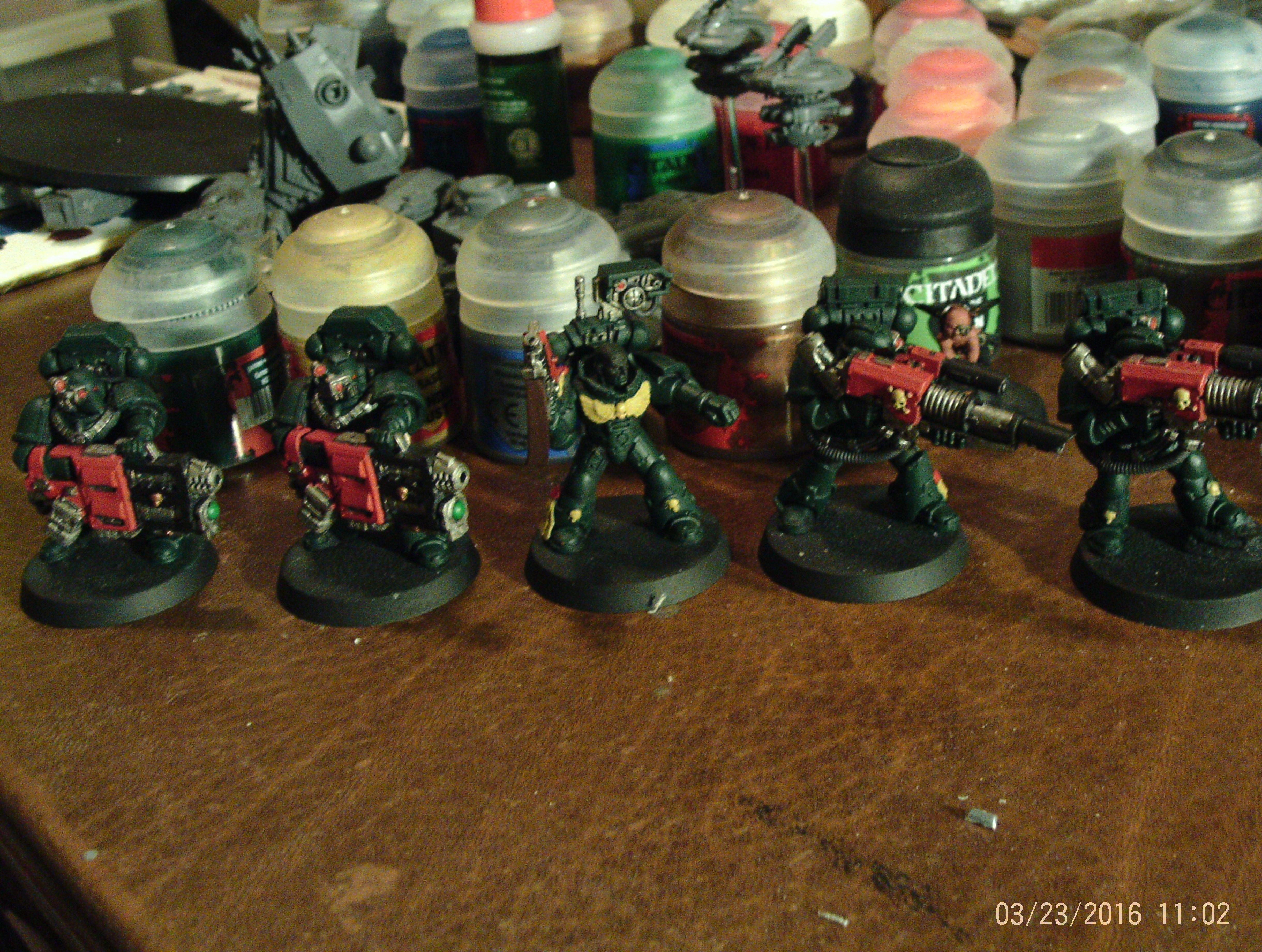 Dark Angels Devastators Basecoated