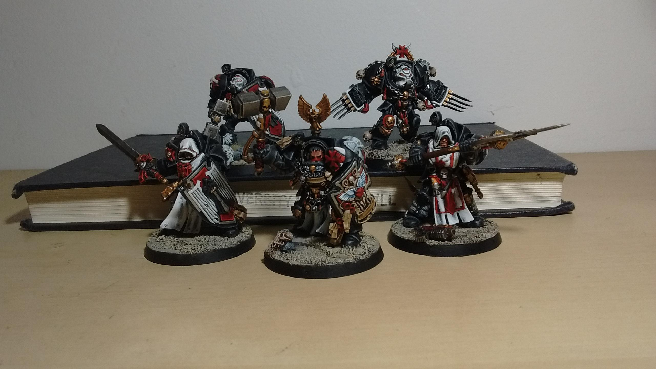 Assault, Black, Black Templars, Blanche, Blood Angels, Chainsword, Conversion, Dark Angels, Deathwing, Forge World, Imperium, Space Hulk, Space Marines, Sword Brother, Tactical Squad, Templars, Terminator Armor, Thunder Hammer