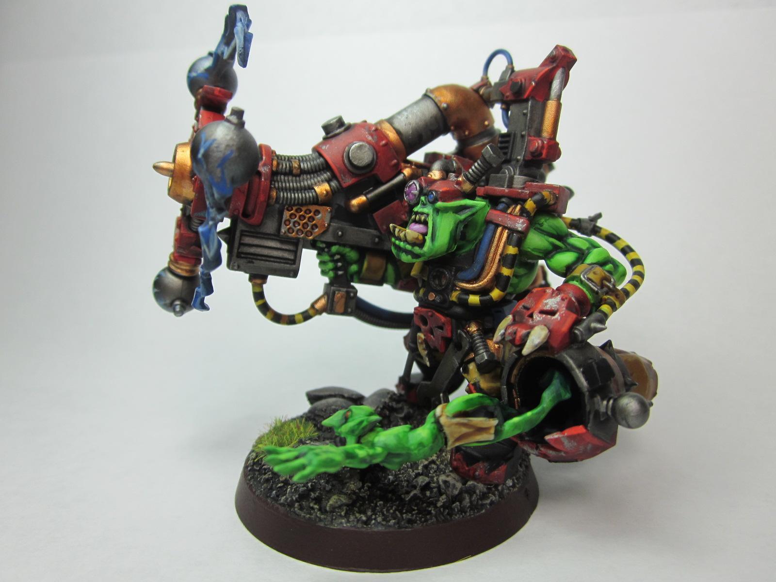 Big Mek, Orks, Shokk Attack Gun