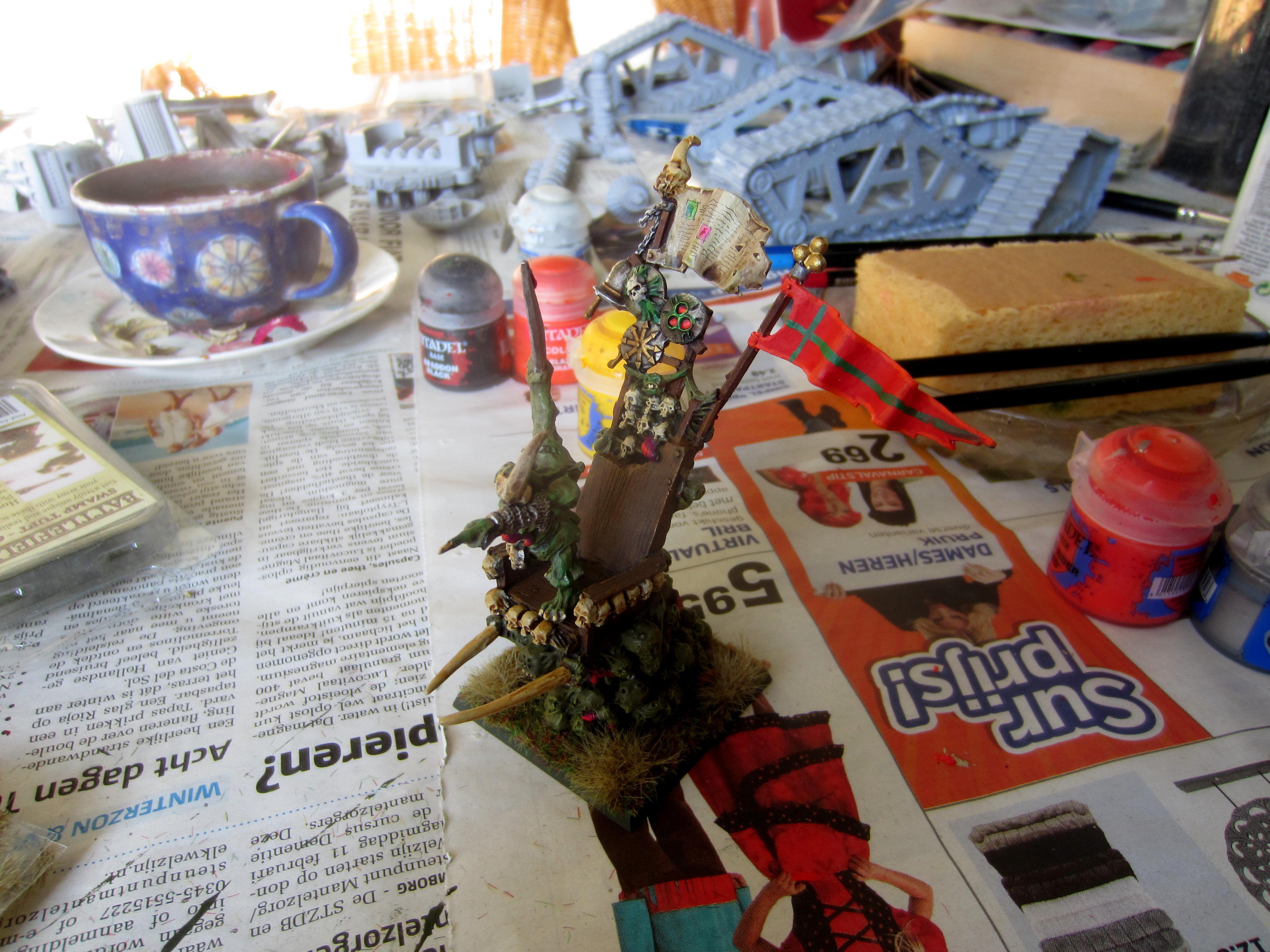 Chaos, Daemons, Herald, Nurgle, Palanquin