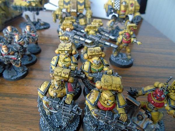 Adepus Astartes, Army, Battle Damage, Checkerboard, City, Devastators, Dreadnought, Drop Pods, Imperial Fists, Land Speeders, Lascannon, Legion Of The Damned, Rubble, Ruins, Scouts, Space Marines, Tactical Squad, Terminator Armor, Urban, Venerable Dreadnought, Vindicators, Weathered, Yellow