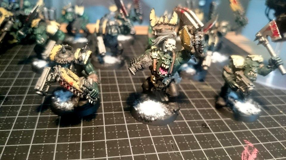 Ard Boyz, Bad Moons, Boy, Chipping, Eavy Armour, Orks, Power Klaw, Rust, Warhammer 40,000, Weathered, Worn