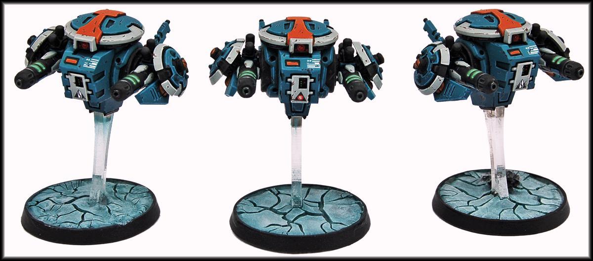 Battlesuit, Conversion, Drone, Drones, Plasma Rifle, Tau, Tau Empire, Warhammer 40,000, Warhammer40000