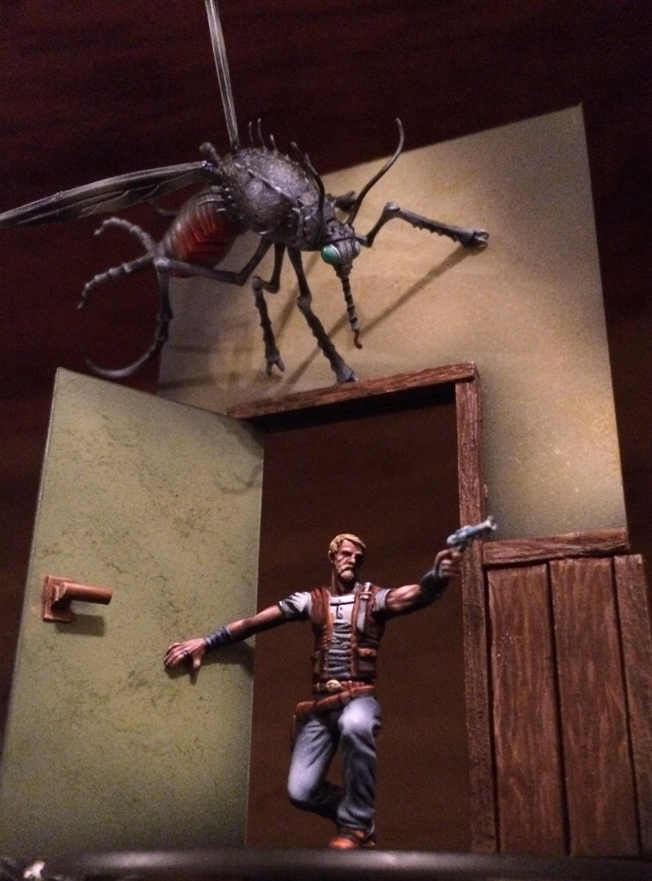 Bug, Diorama, Horrors, Malifaux, Modern, Mosquito, Through The Breach