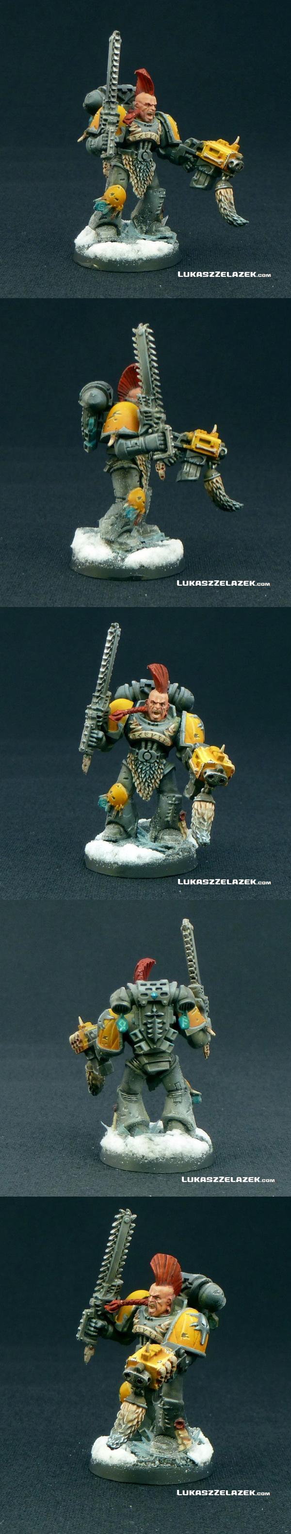 Chainsword, Ice, Space, Space Marines, Warhammer 40,000, Warhammer Fantasy, Winter, Wolfs