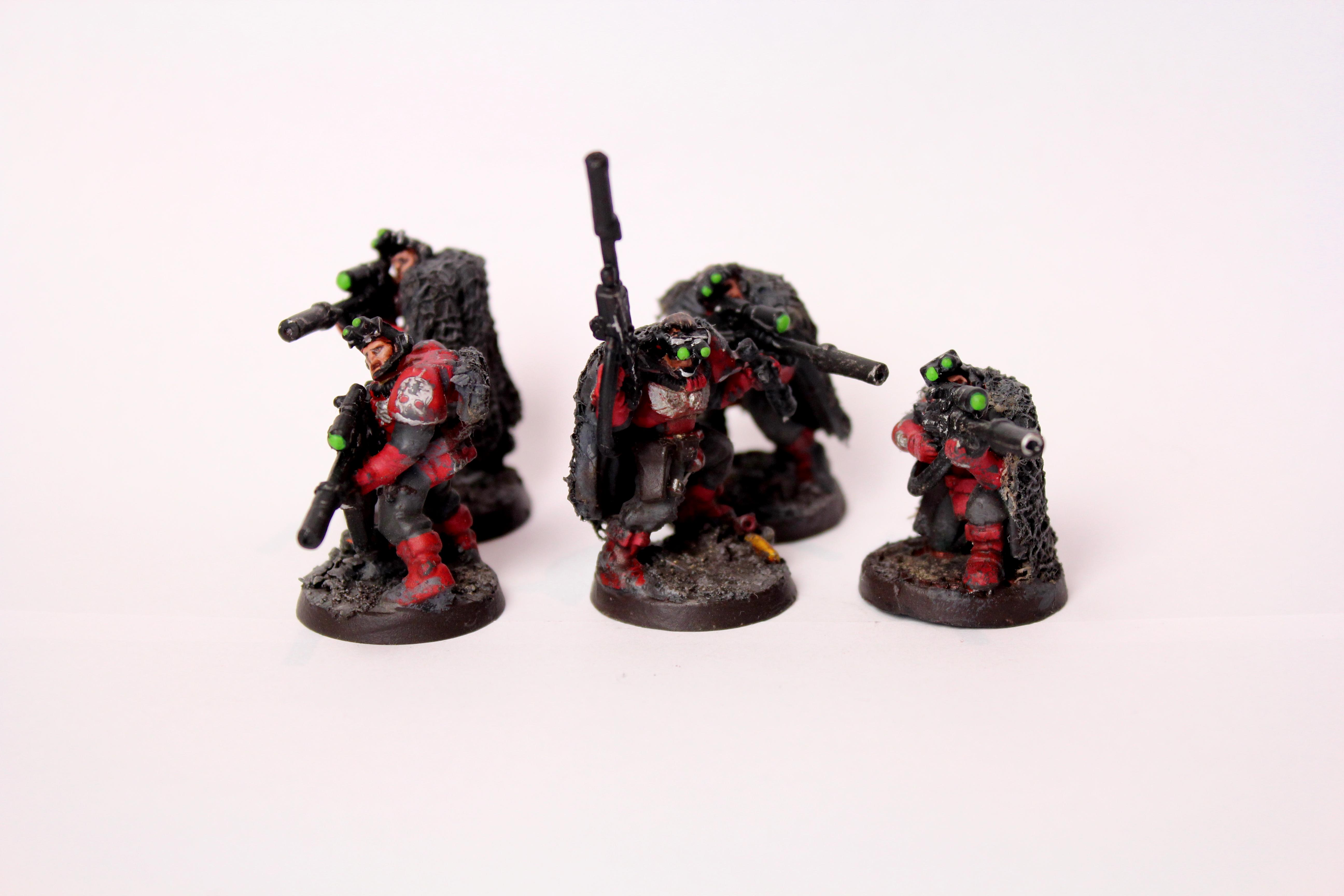 Inquisition, Red Hunters, Scouts, Space Marines, Warhammer 40,000