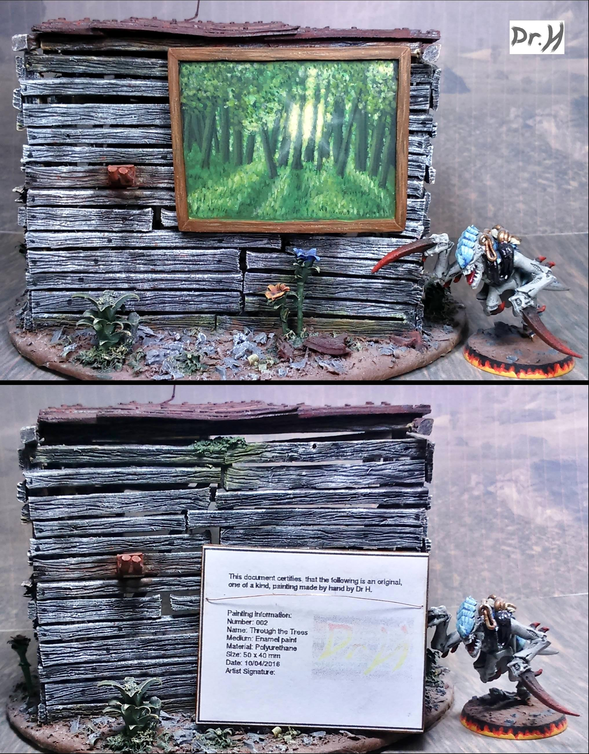 1:12th scale painting: Through the Trees