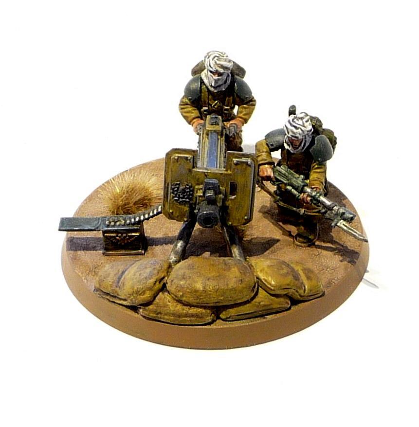 Conversion, Heavy Bolter, Heavy Weapons Team, Imperial Guard, Tallarn Desert Raiders
