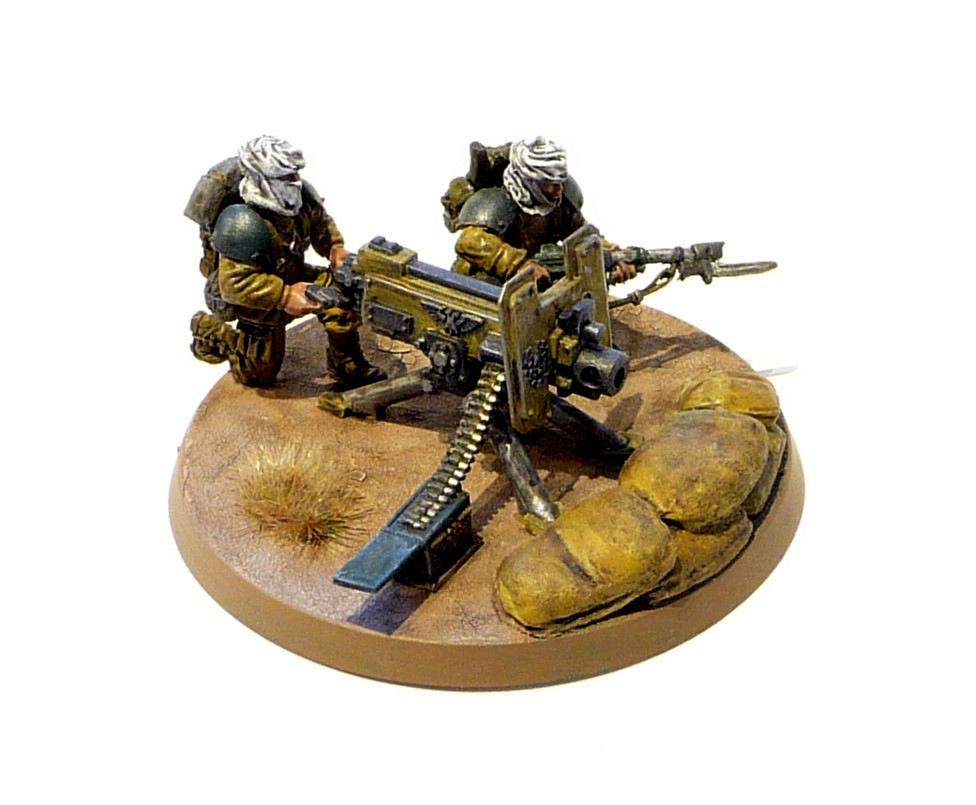 Conversion, Heavy Bolte, Heavy Weapons Team, Imperial Guard, Tallarn Desert Raiders