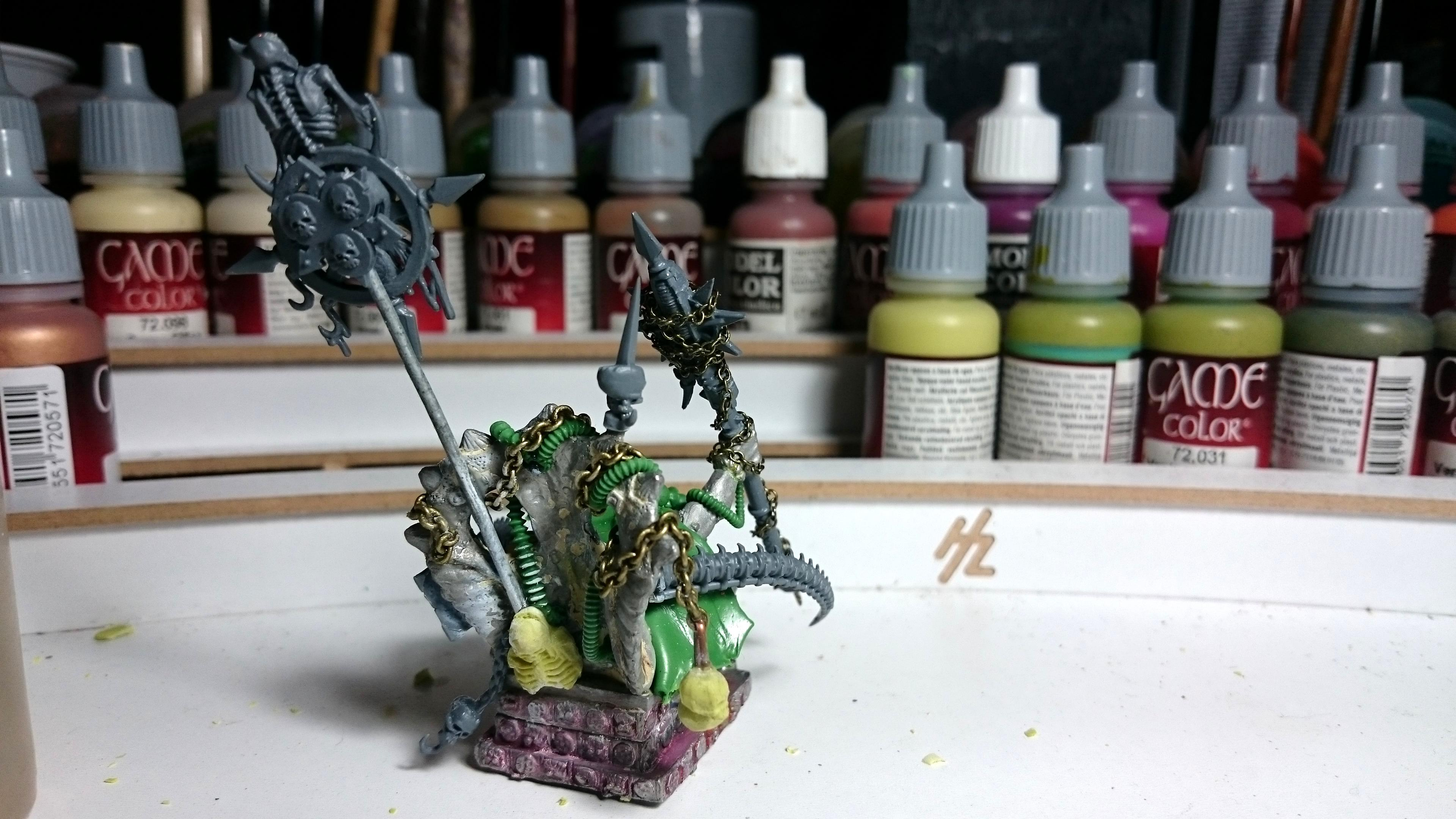 Chaos, Chaos Space Marines, Conversion, Daemons, Nurgle, Palanquin, Plague, Prince, Sorcerer, Space, Space Marines, Warhammer 40,000, Warhammer Fantasy, Wh40