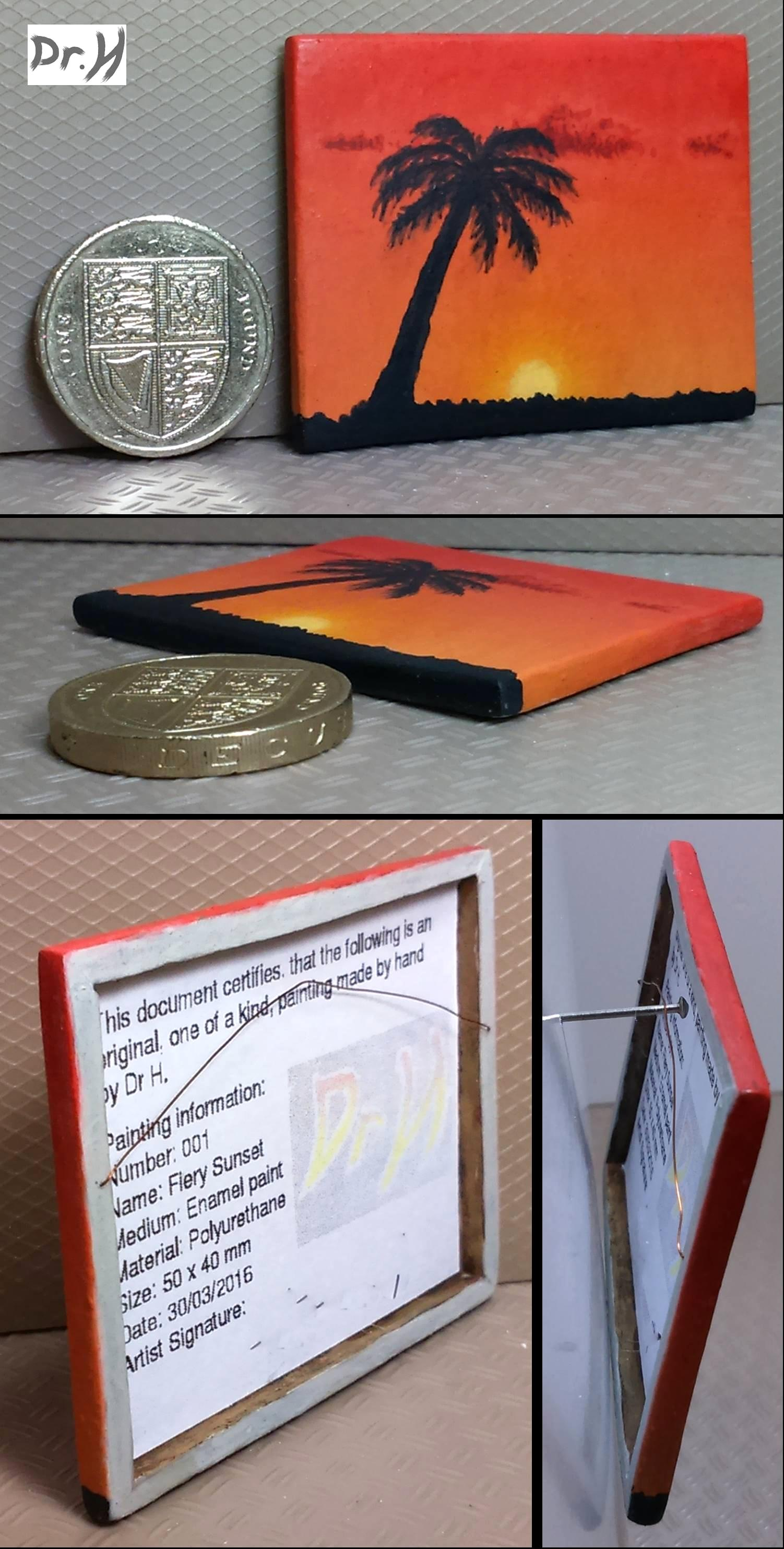 """1:12th scale painting. """"Fiery Sunset"""""""