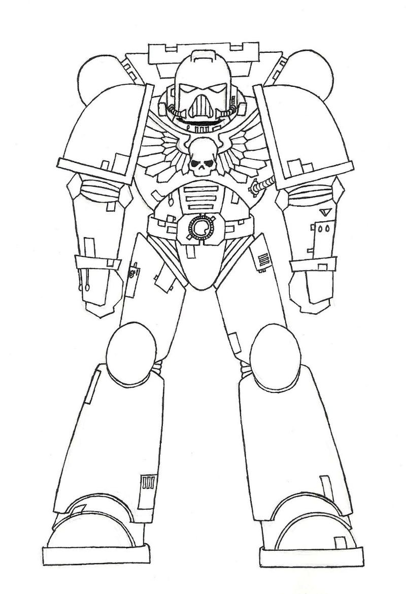 usmc coloring pages - space marines free coloring pages