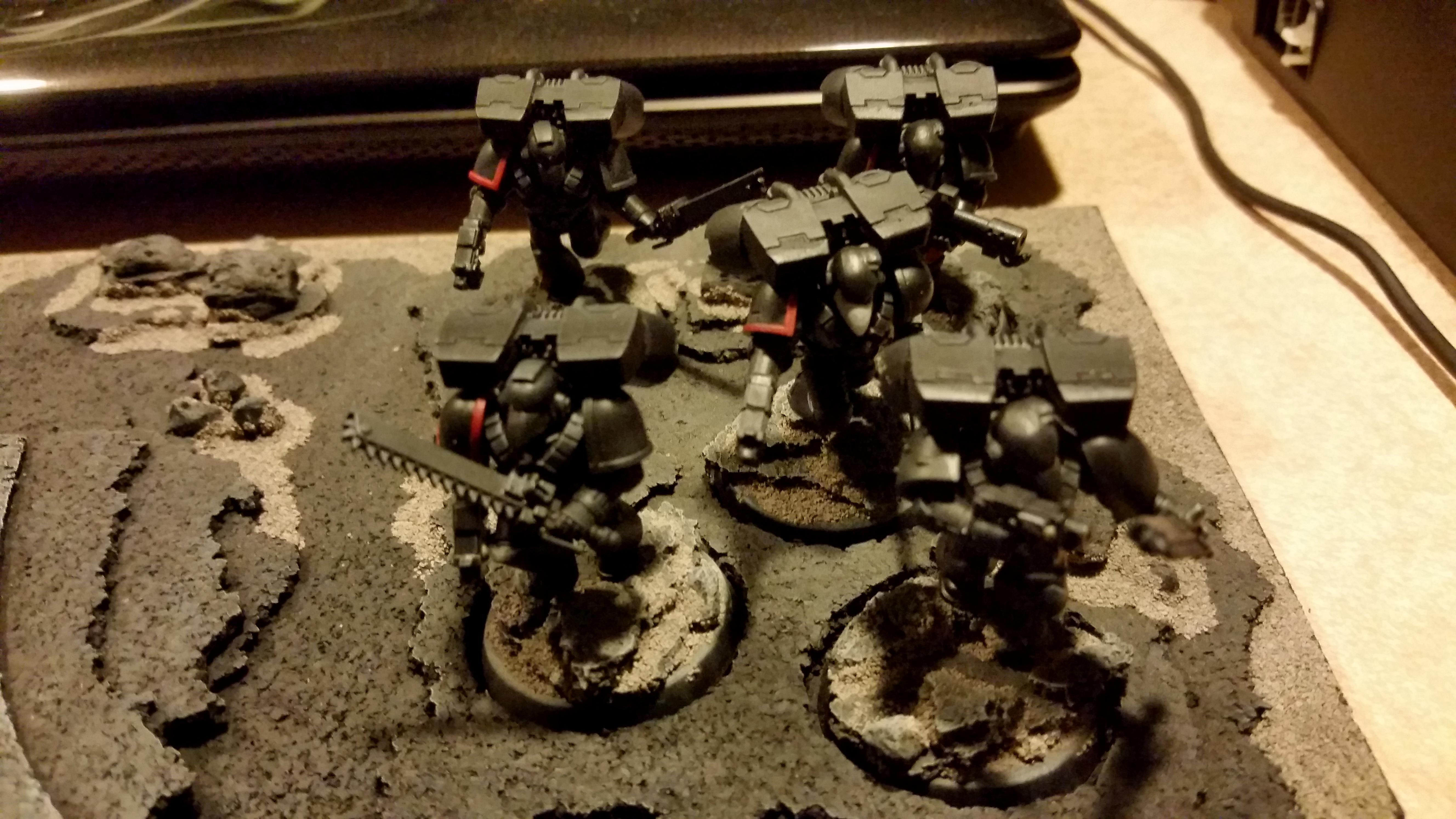 Assault, Black Armour, Raven Guard, Space Marines, Tactical, Vanguard