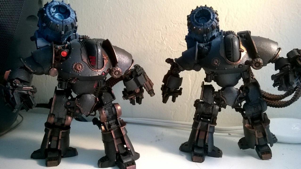 30k, Mechanicum, Object Source Lighting, Thanatar, Work In Progress