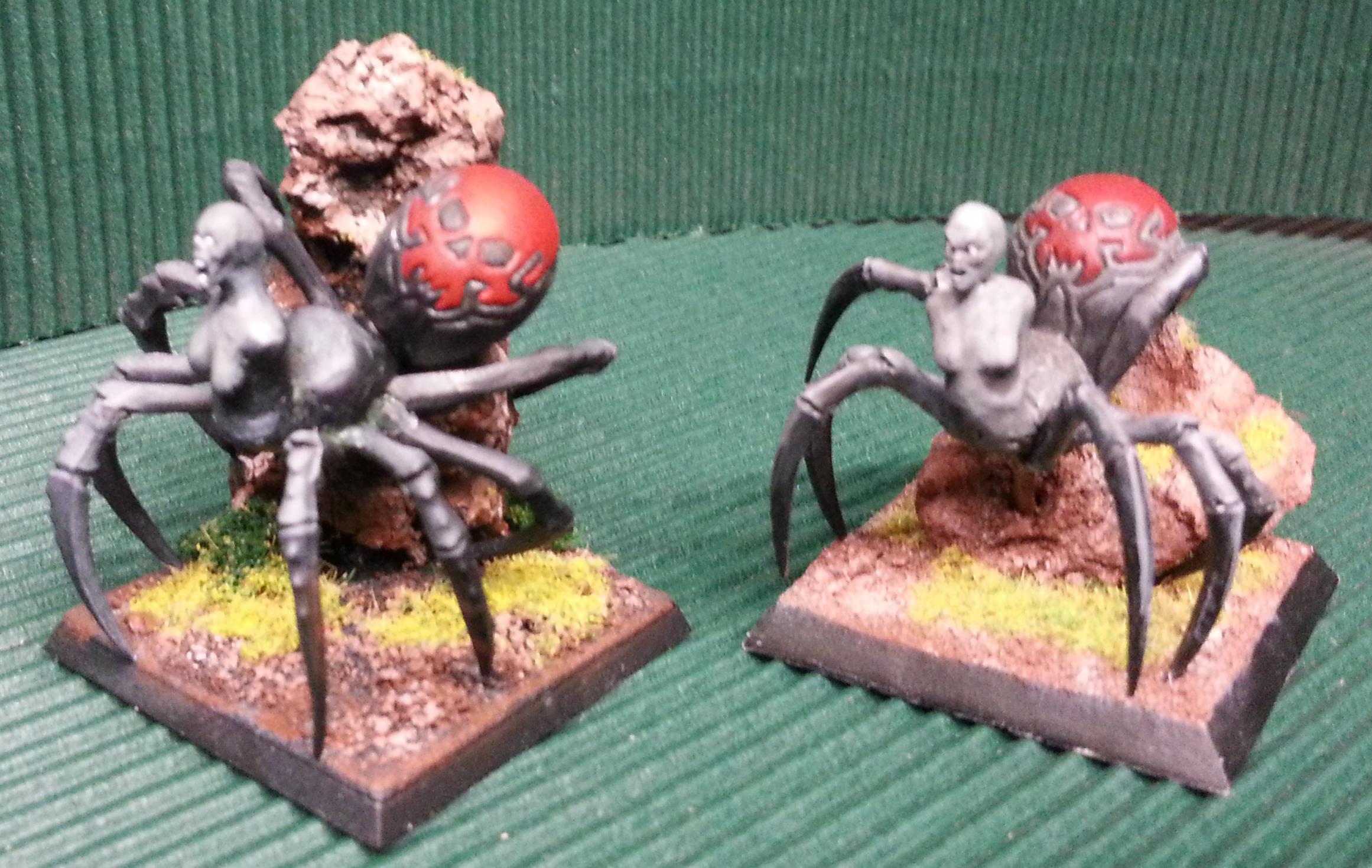 Centaur, Drider, Female, Spider