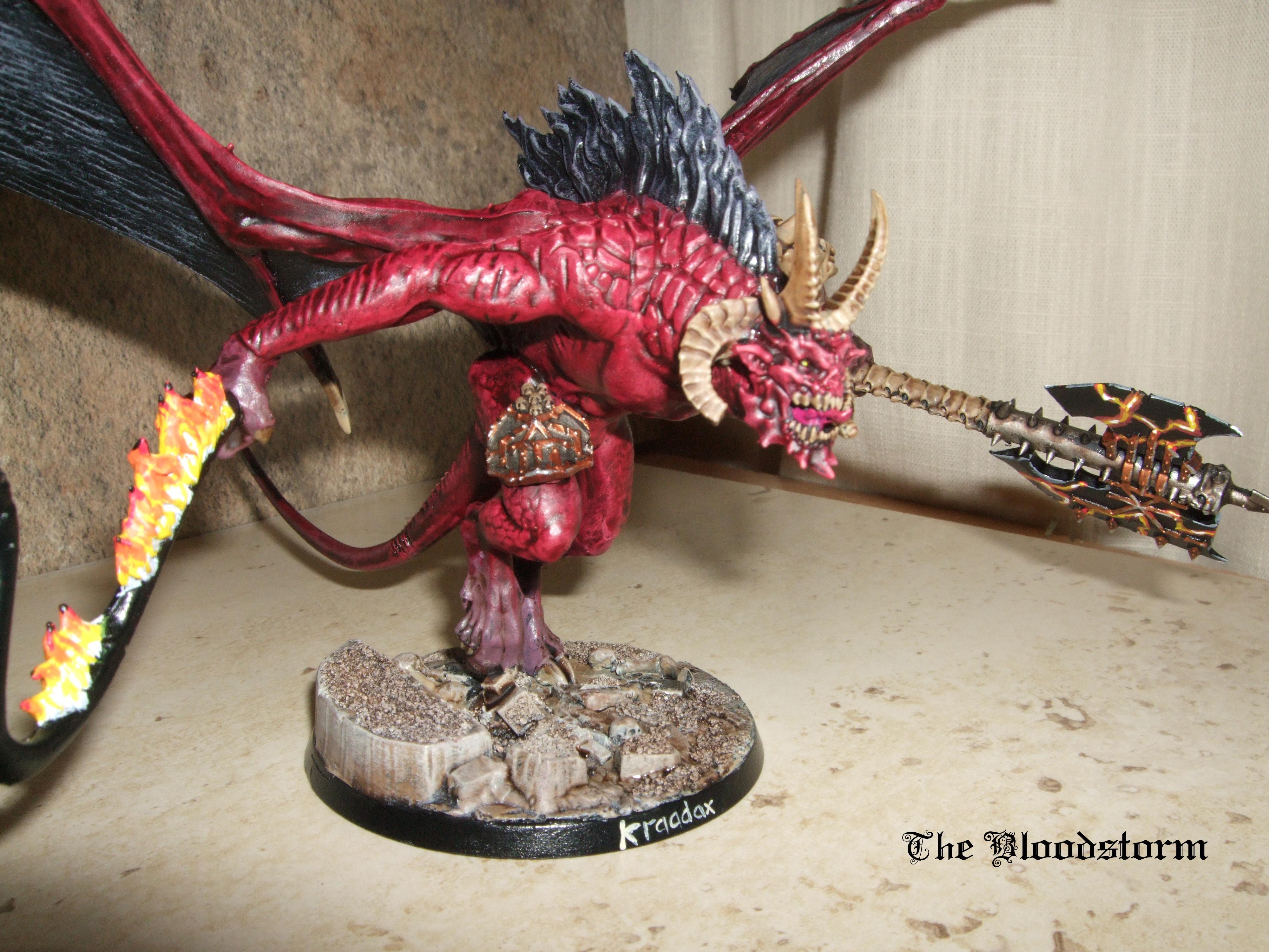 Balrog, Bloodthirster, Chaos, Greater Daemon, Khorne Daemonkin, Unfettered Fury, Warhammer 40,000