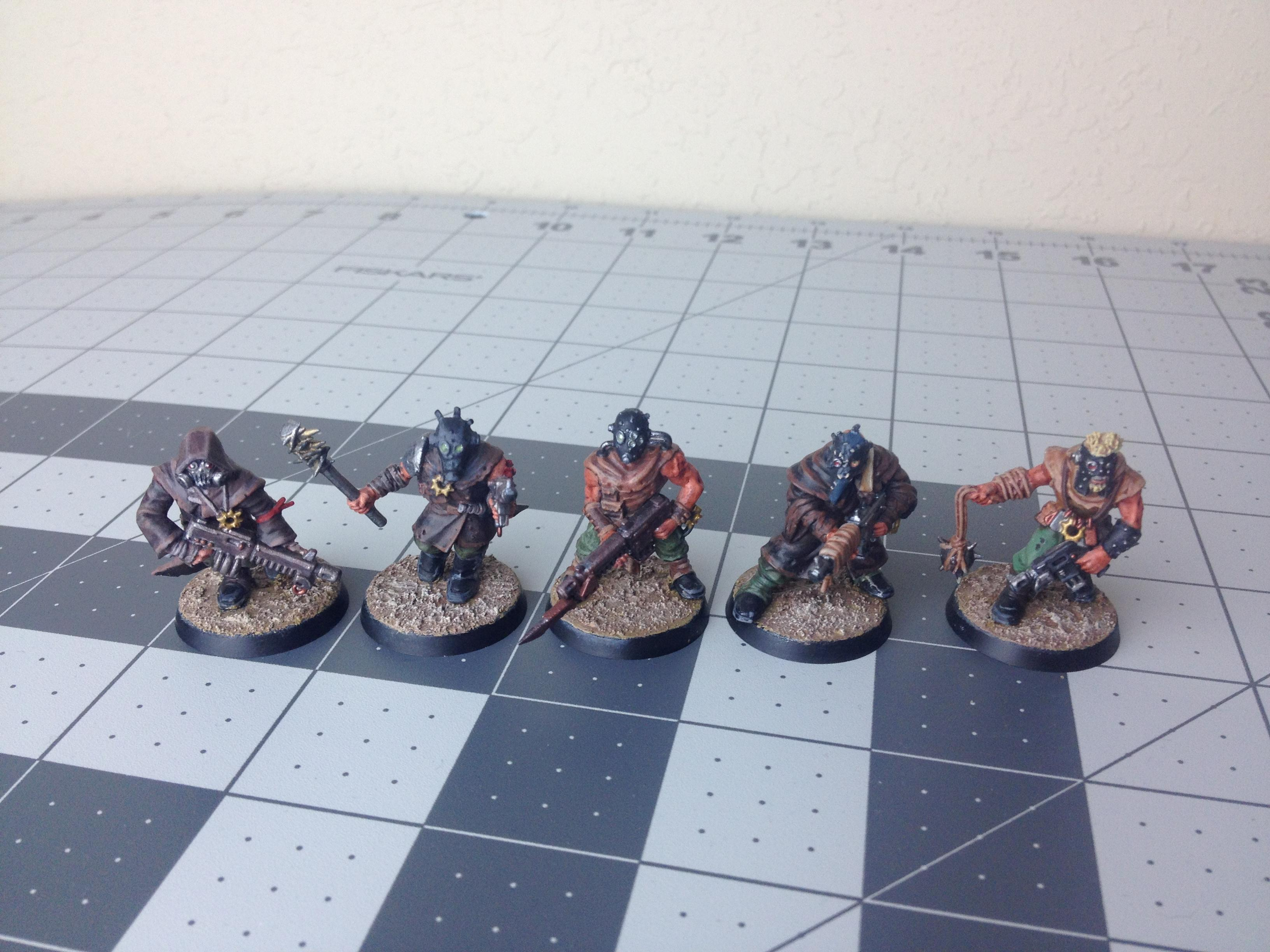 Based, Chaos, Cultists, Finished, Front, Warhammer 40,000