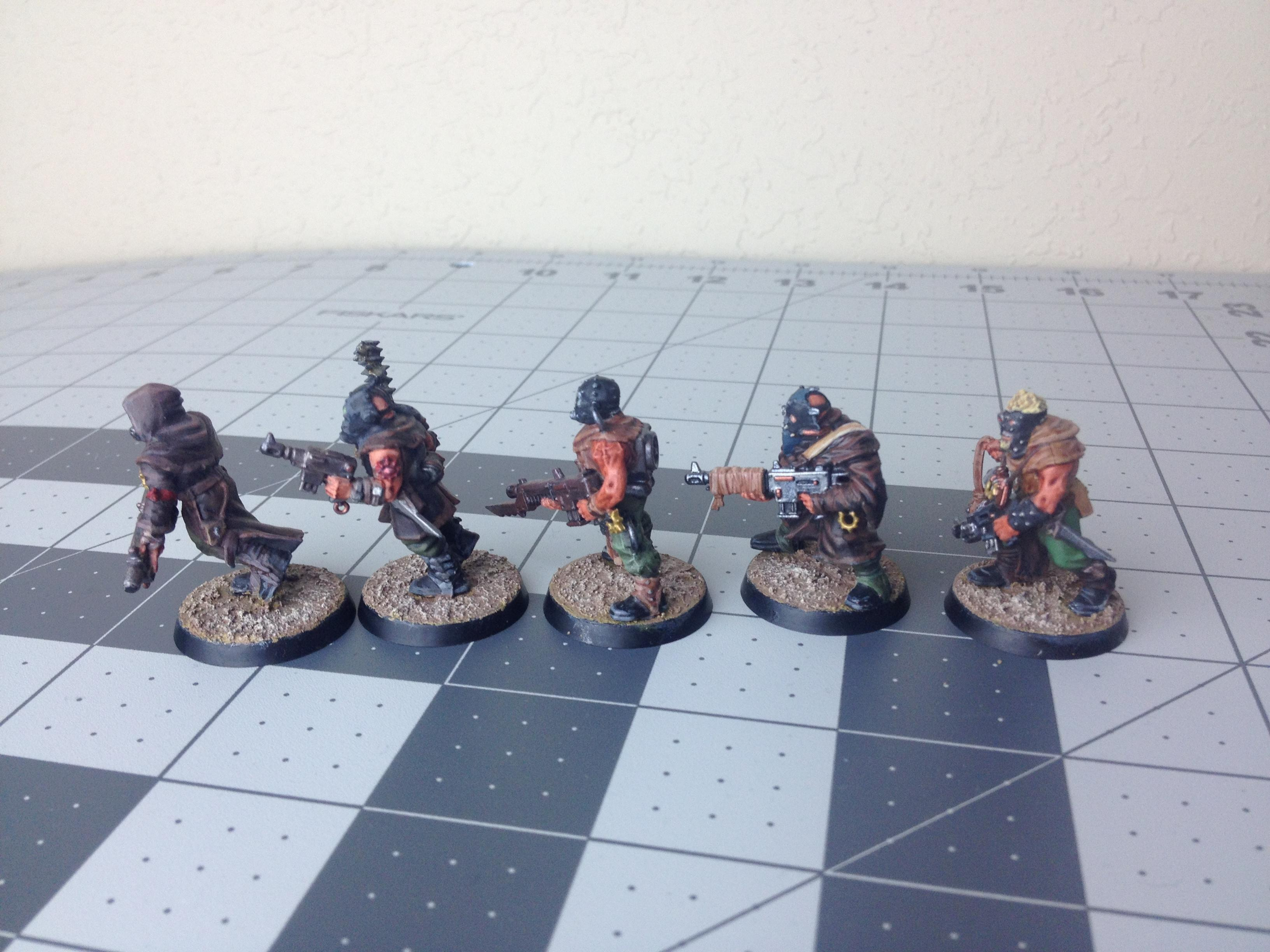 Based, Chaos, Cultists, Finished, Side, Warhammer 40,000