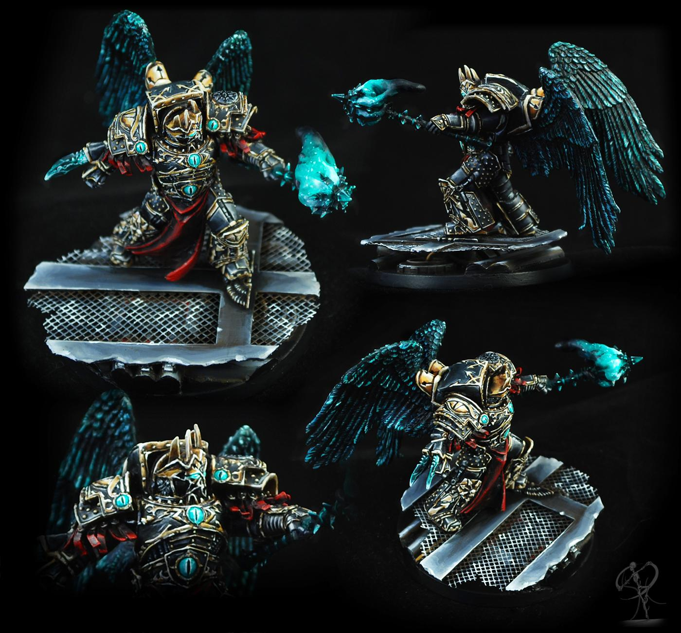 Black Legion, Chaos, Chaos Space Marines, Conversion, Greenstuff, Horus Heresy, Non-Metallic Metal, Science Fiction, Sculpting