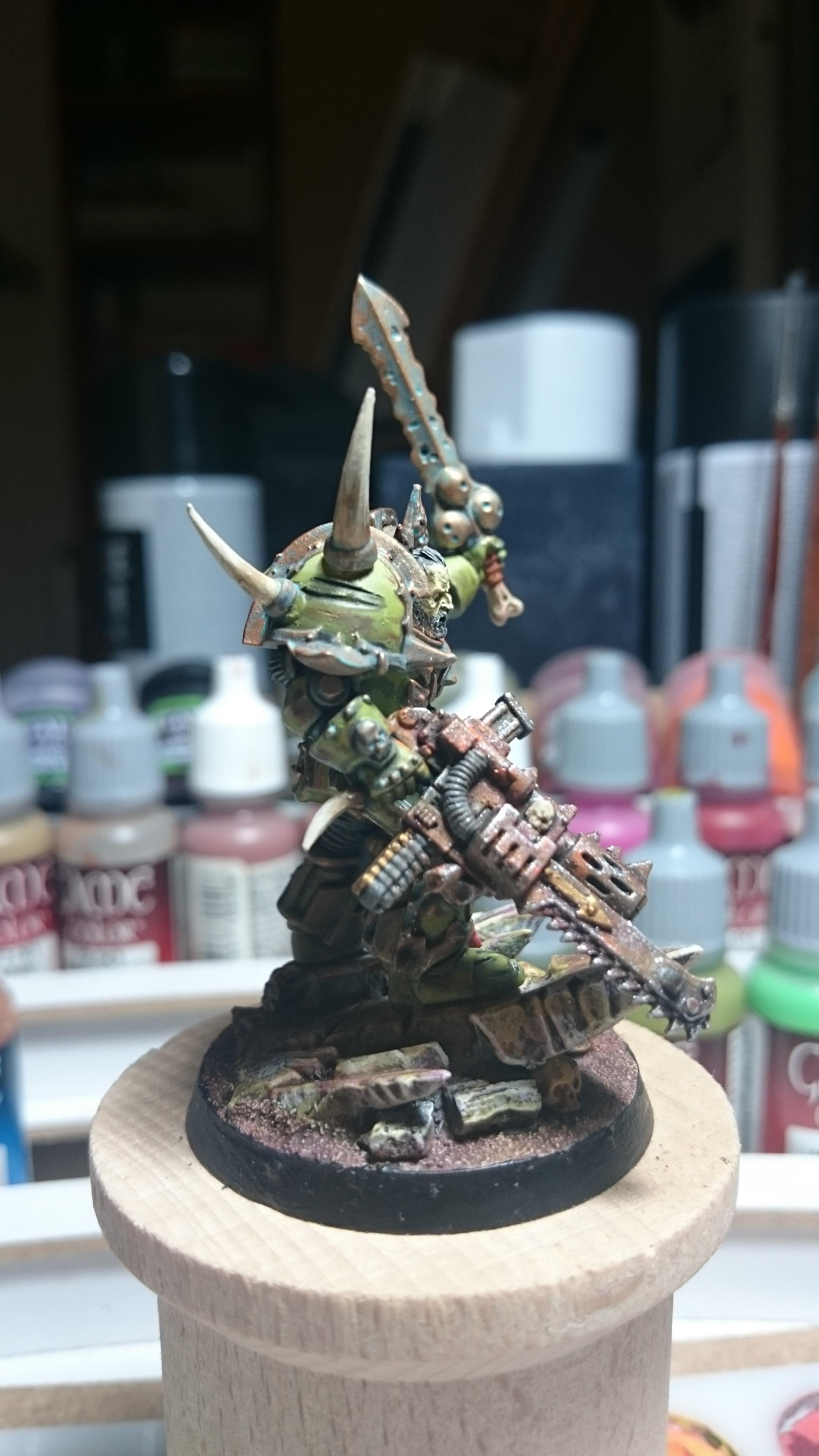 Chaos, Chaos Space Marines, Conversion, Daemons, Lord, Nurgle, Plague, Space, Space Marines, Terminator Armor, Warhammer 40,000, Warhammer Fantasy, Wh40