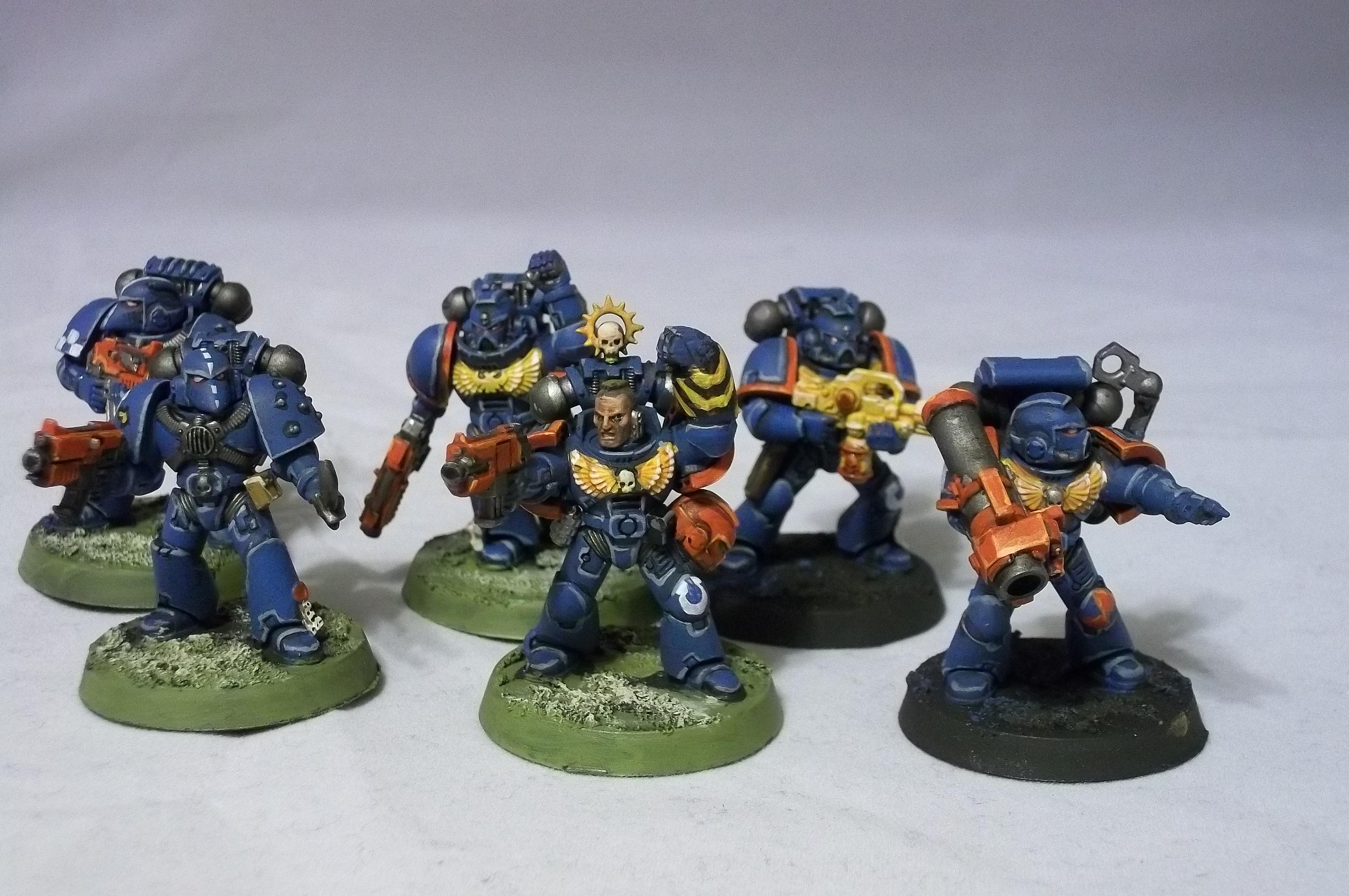 2nd Edition, 3rd Company, Retro, Rogue Trader, Space Marines, Ultramarines, Work In Progress