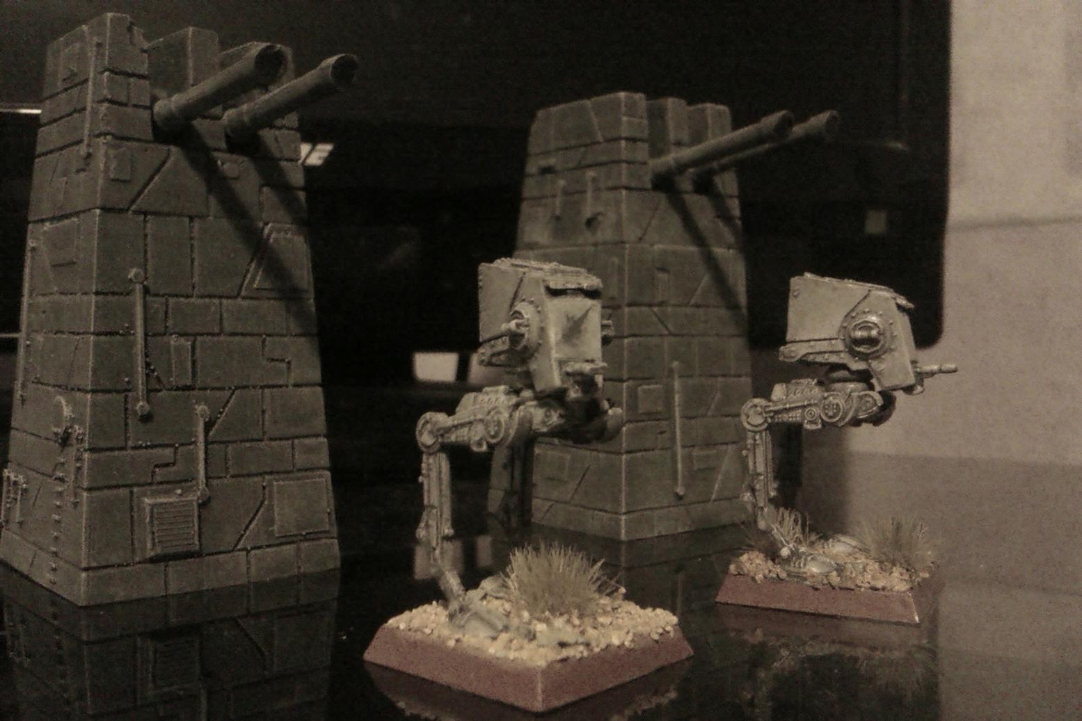 6mm, Defences, Empire, Epic, Fortifications, Grey, Guns, Imperial, Laser, Mech, Sentinel, Star Wars, Turret, Walker, X-Wing