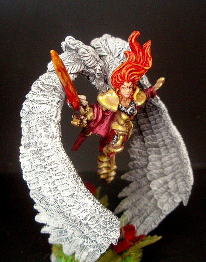 Angel, Counts As, Sculpting, Seraphim, Seraphim Wings, Sisters Of Battle, St Celestine, St Celestine Sculpt, St Celestine Wings