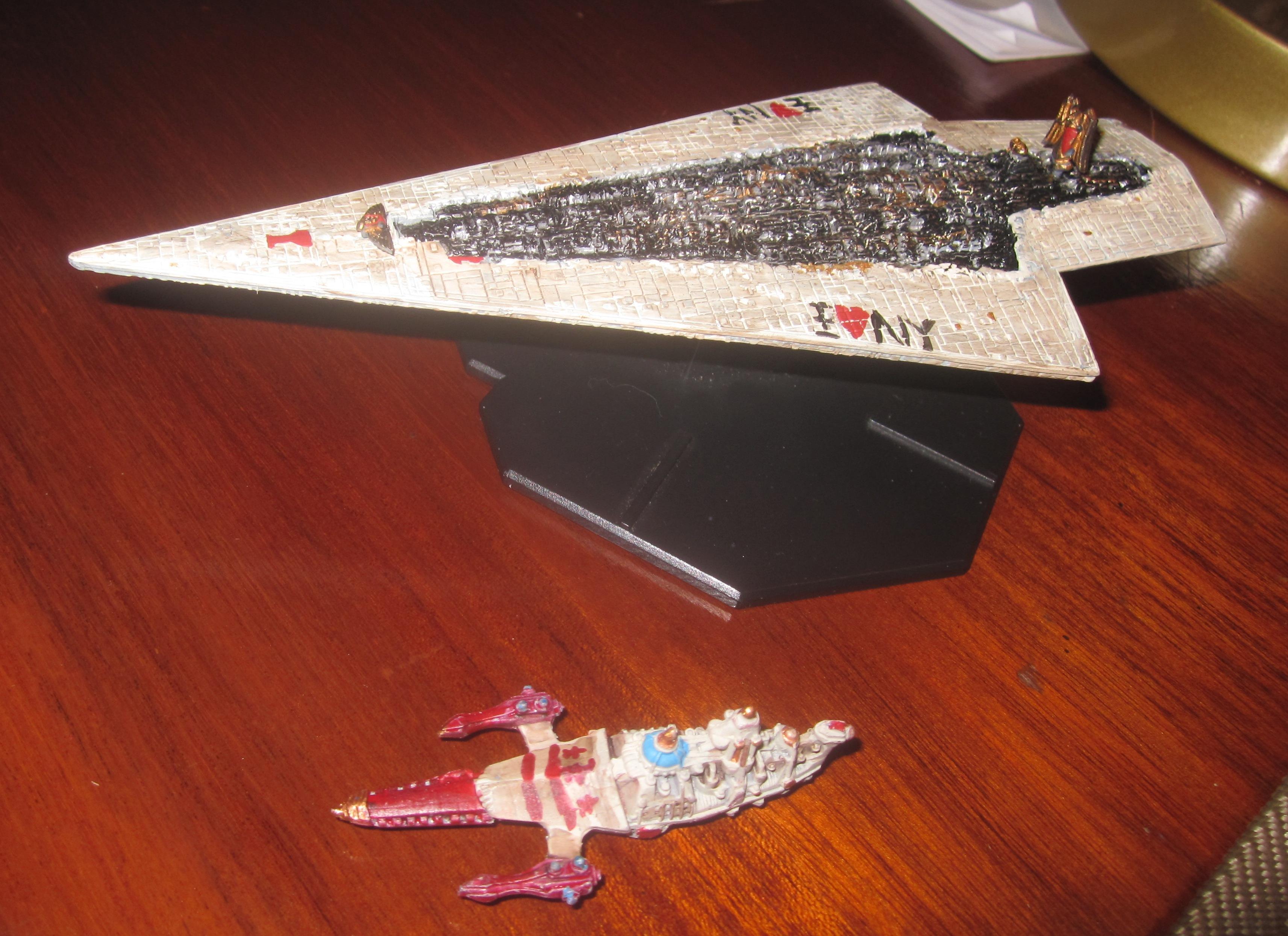 Buck Rogers, Spaceship, Star Wars Miniatures, Super Star Destroyer, Toy