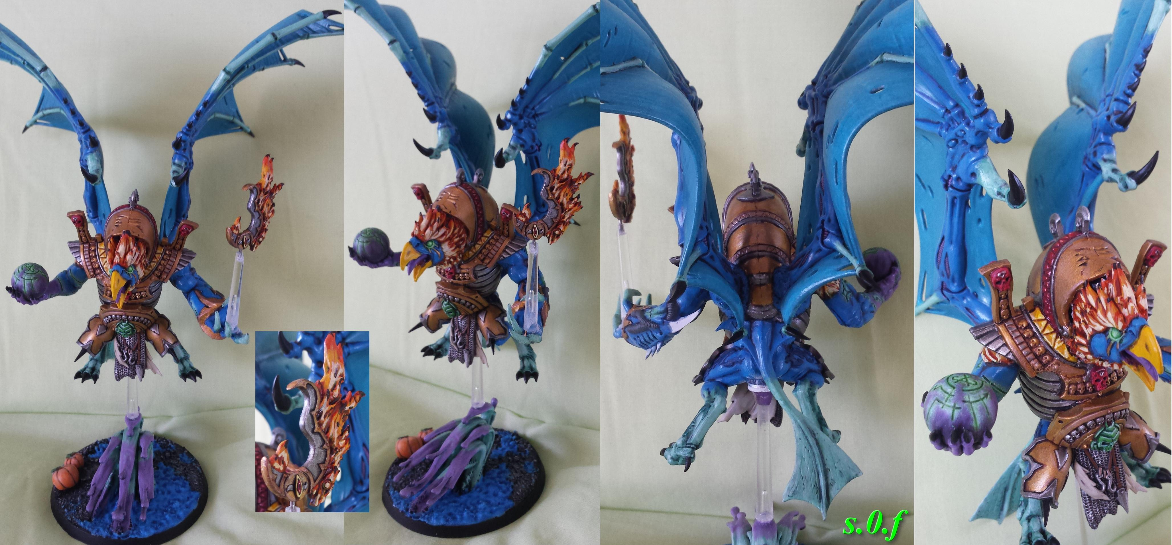 Chaos, Conversion, Daemon Prince, Daemons, Lord Of Change, Tzeentch, Warhammer 40,000