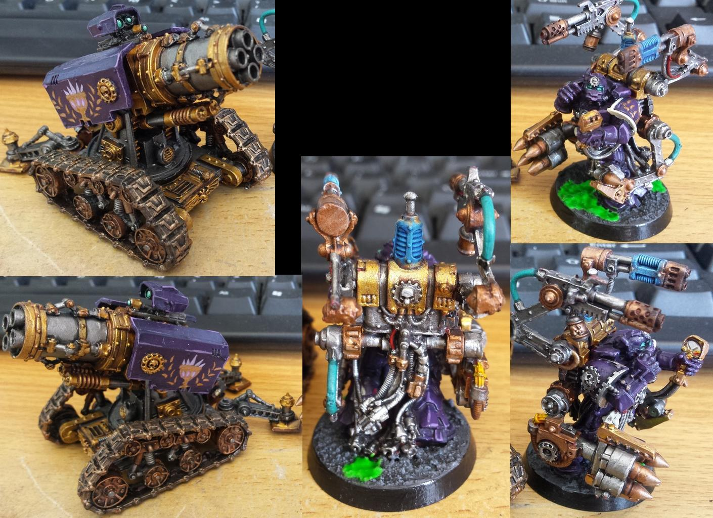 Cannon, Soul Drinkers, Space Marines, Tech Marine, Thunderfire, Warhammer 40,000
