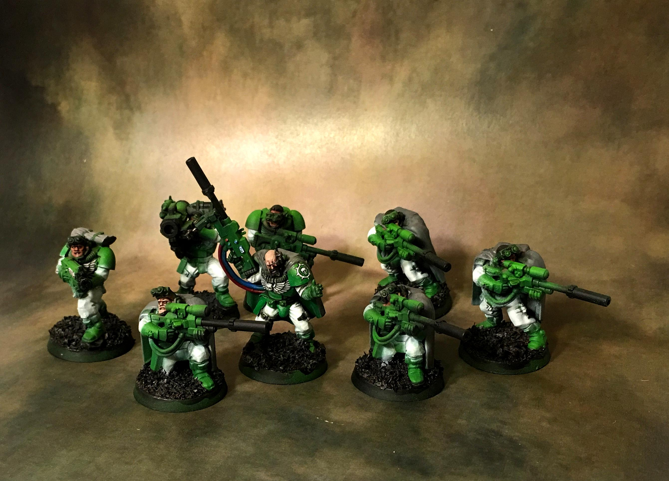 Green, Scouts, Sniper Rifles, Sons Of Medusa, Space Marines, White, Work In Progress
